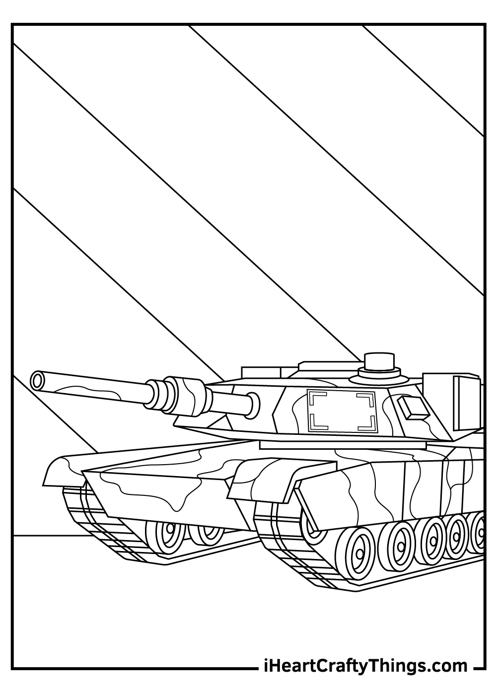 robot tanks coloring pages printable