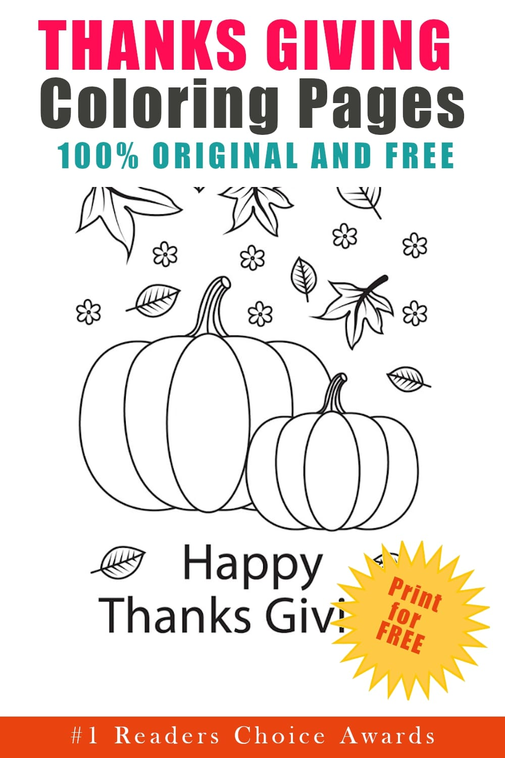 original and free thanksgiving coloring pages