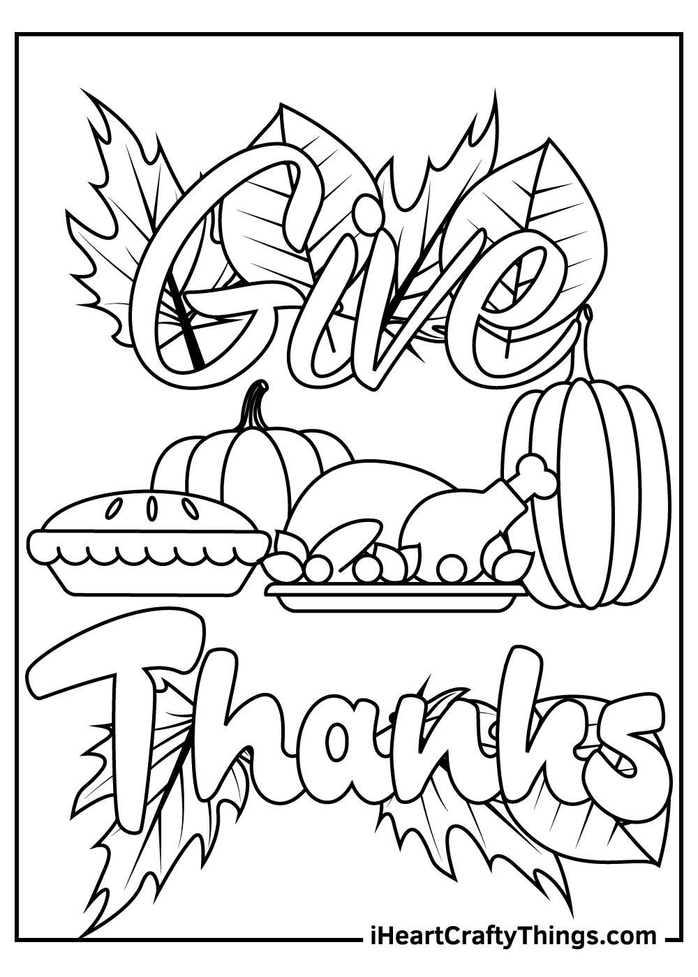 free thanksgiving coloring pages pdf
