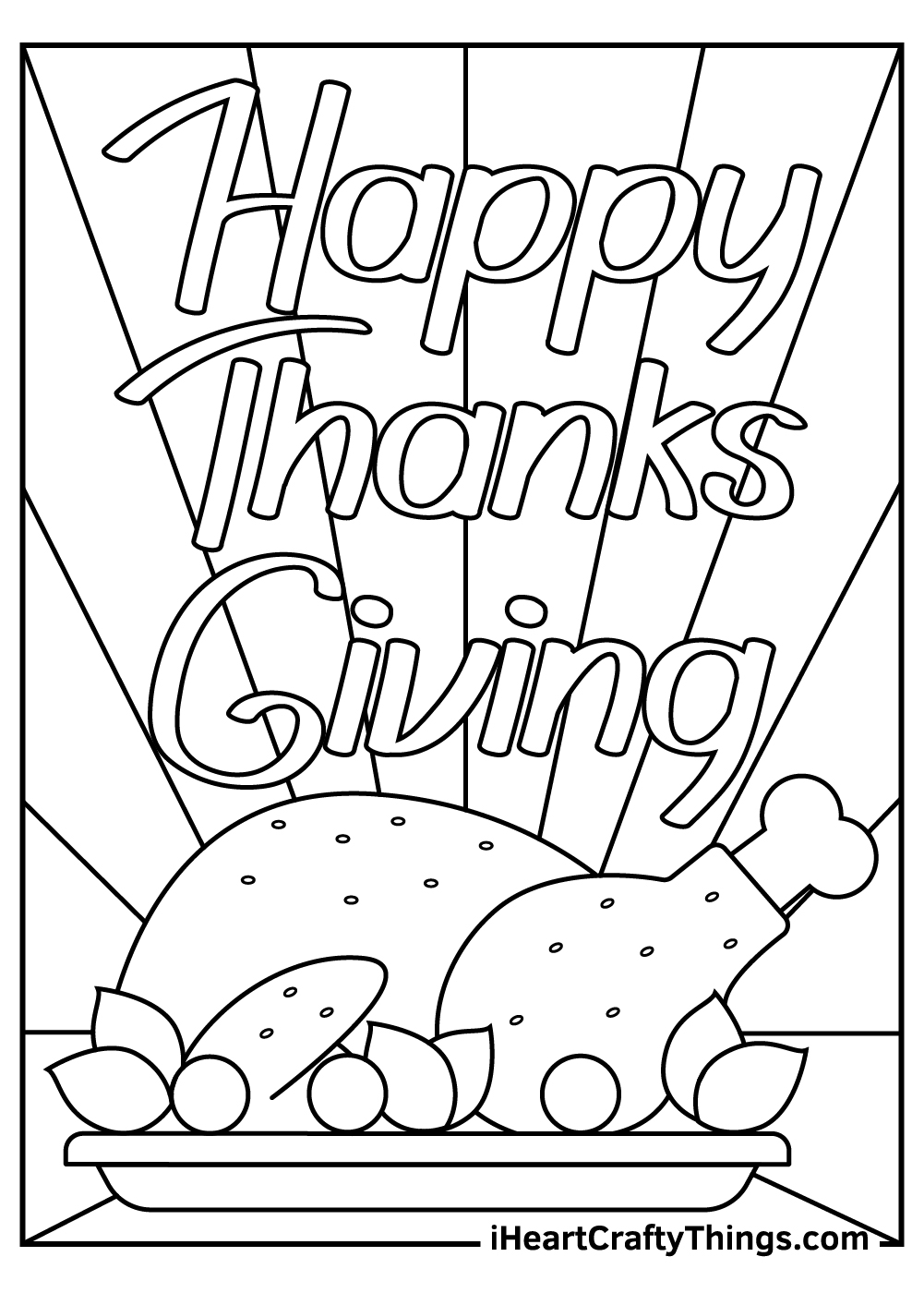 happy thanksgiving coloring pages free download