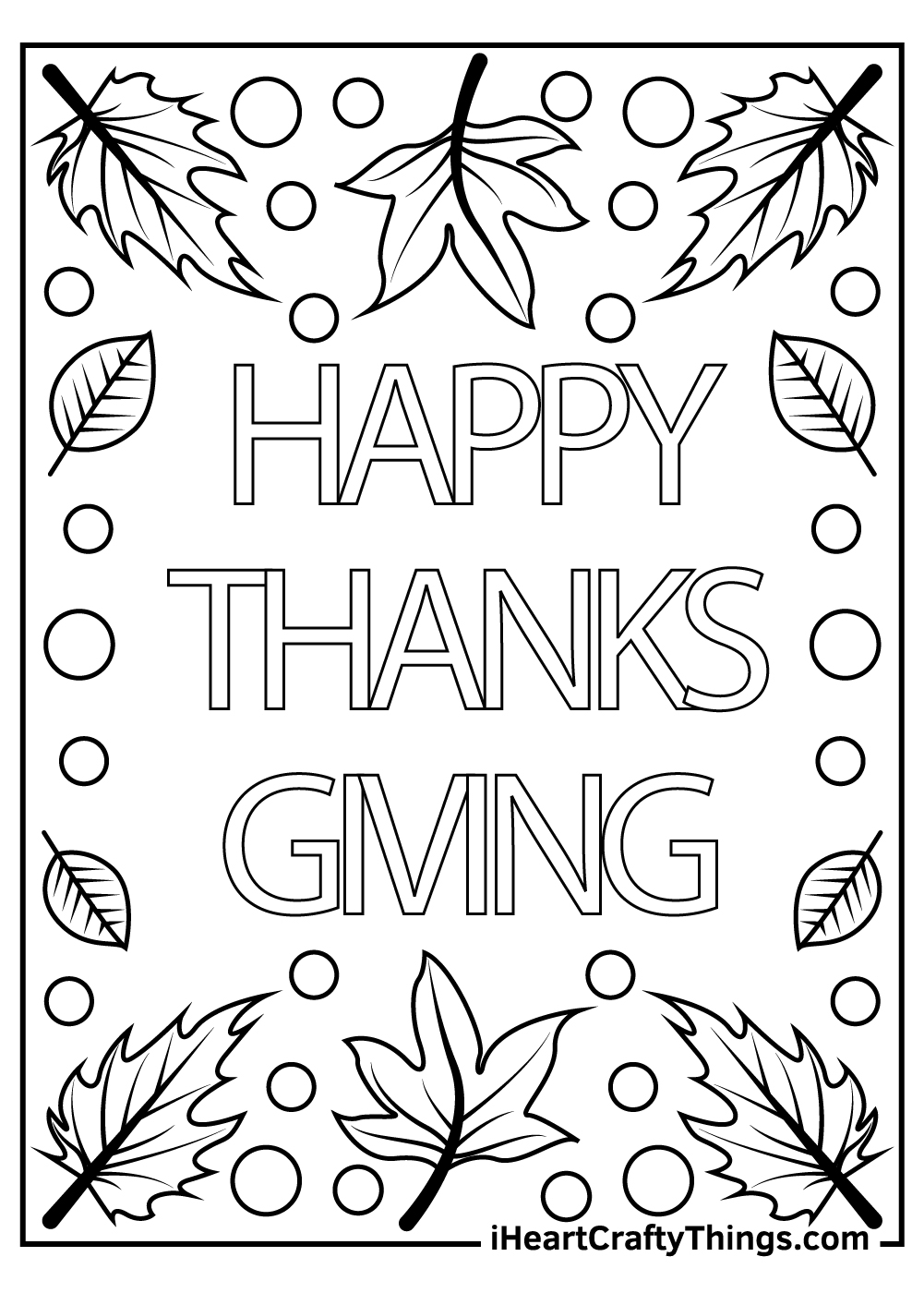 happy thanksgiving coloring pages free printable