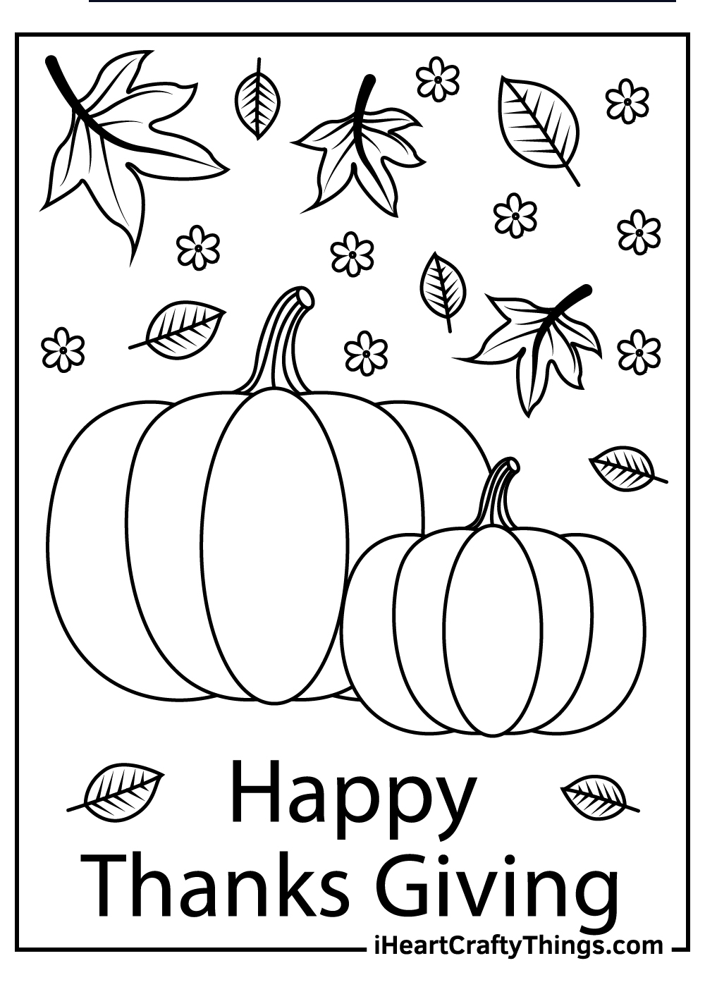 pumpkins free printable thanksgiving coloring pages