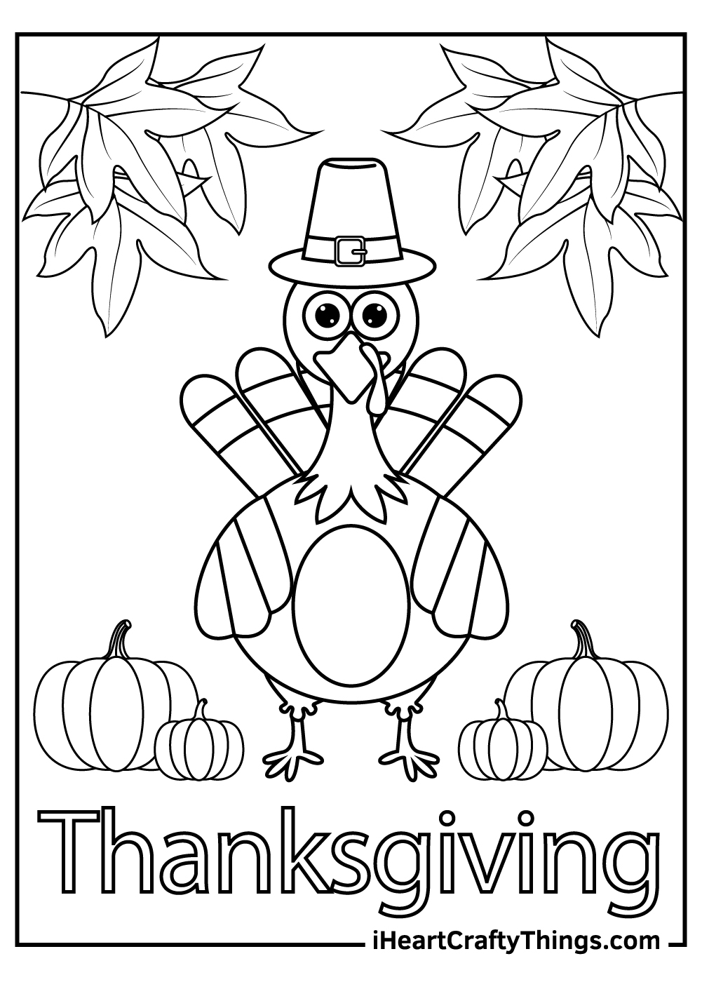 thanksgiving turkey coloring pages free print out