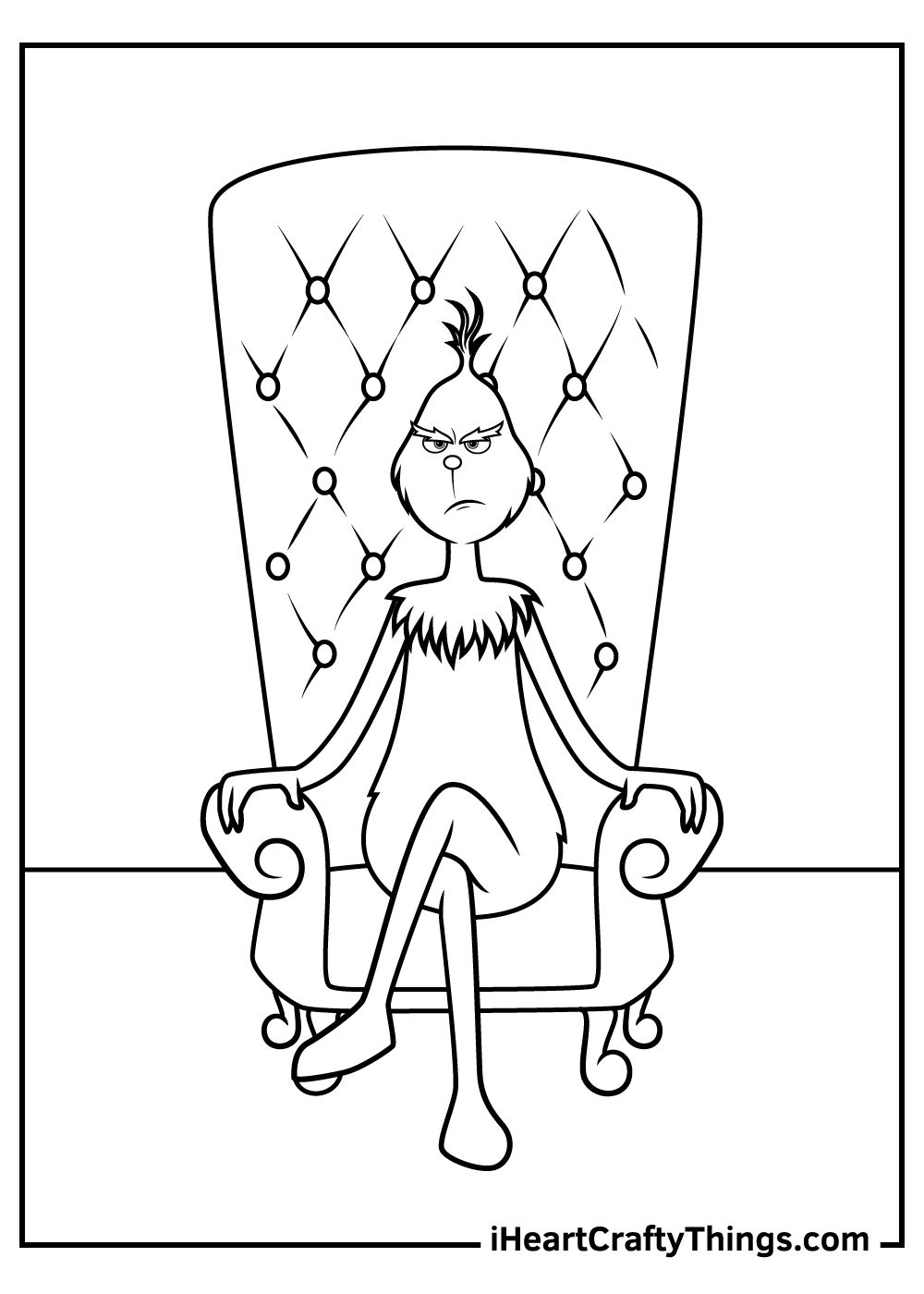 free grinch coloring pages