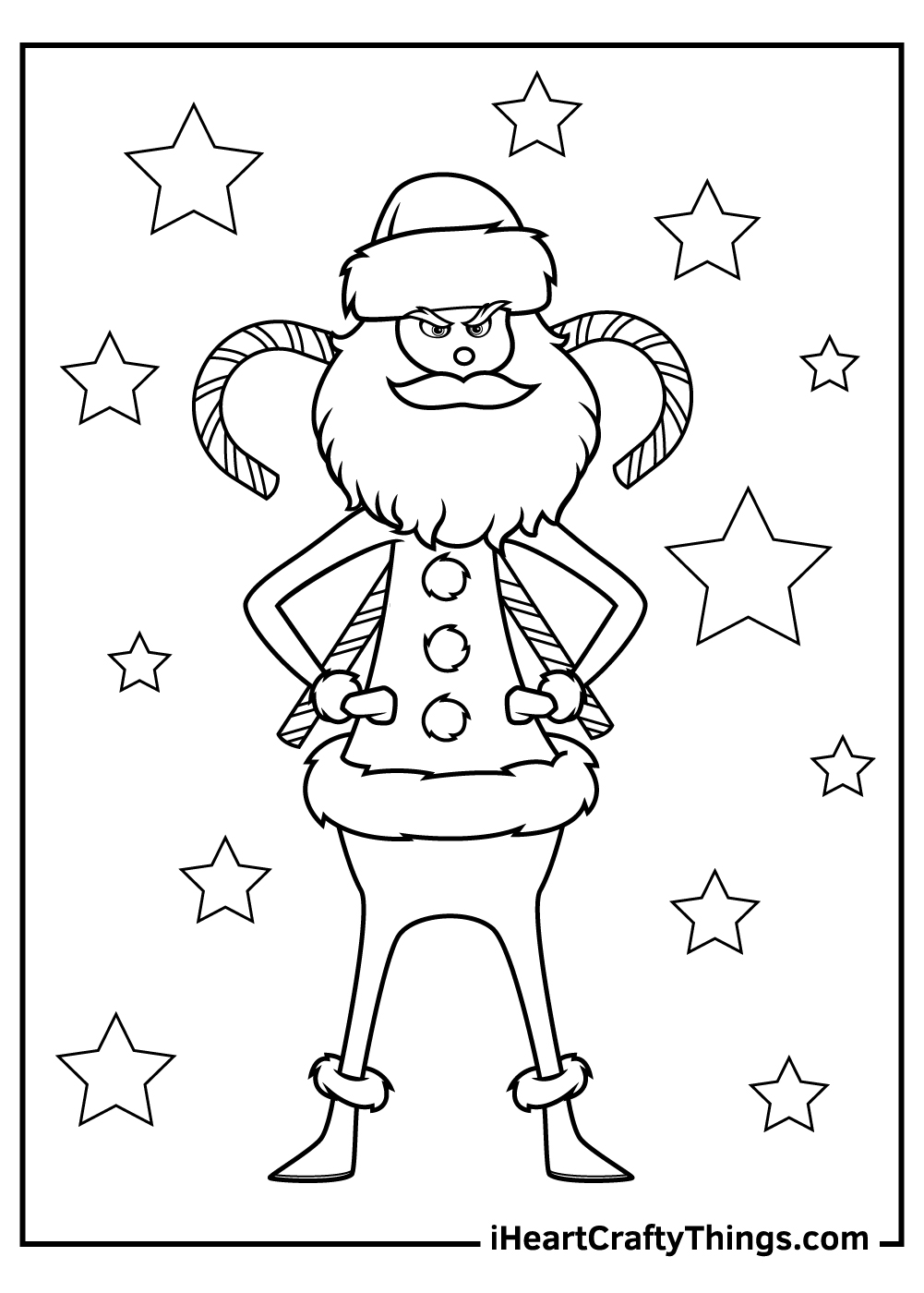 grinch coloring pages stealing lights