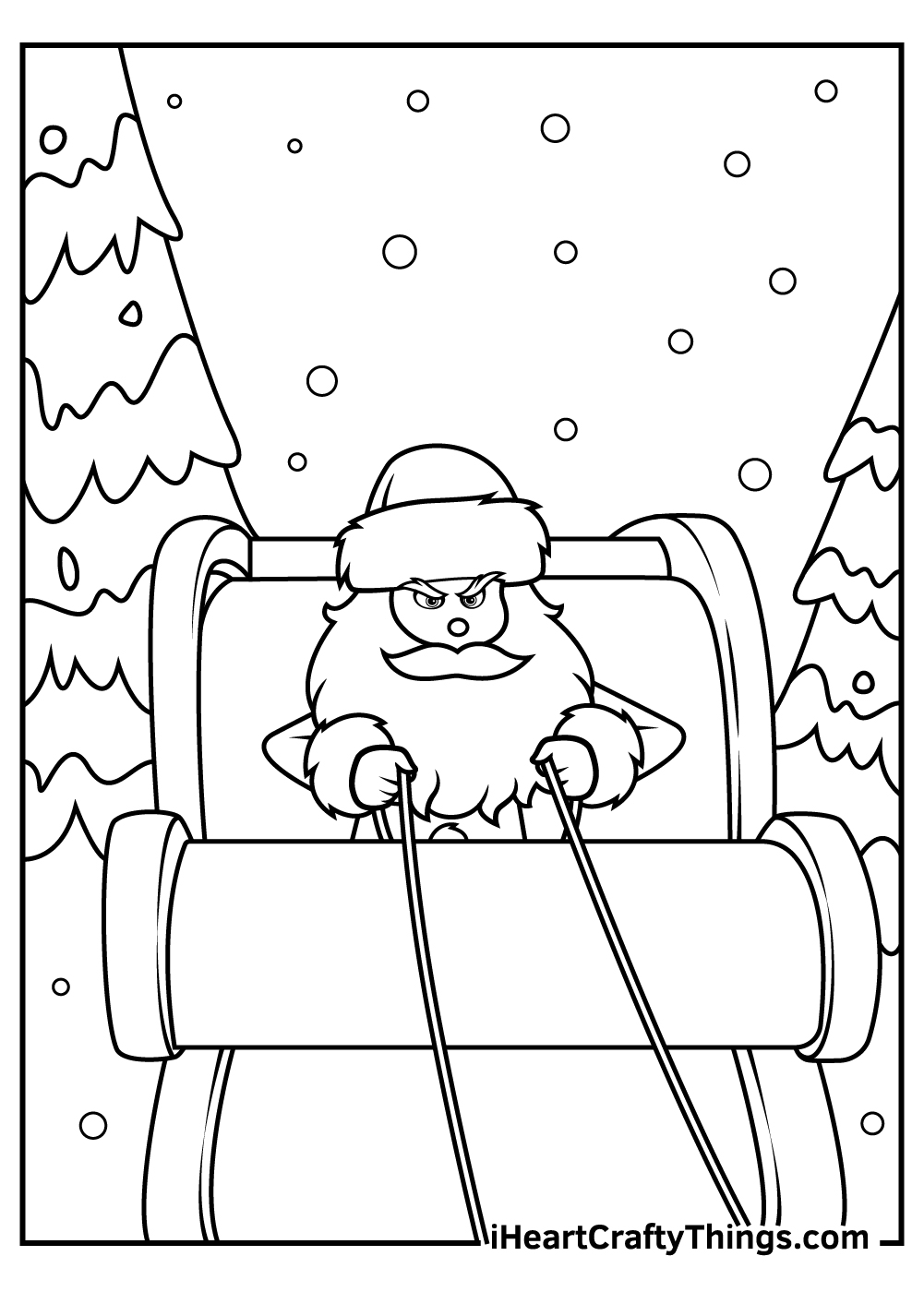 kids christmas grinch coloring pages free printable