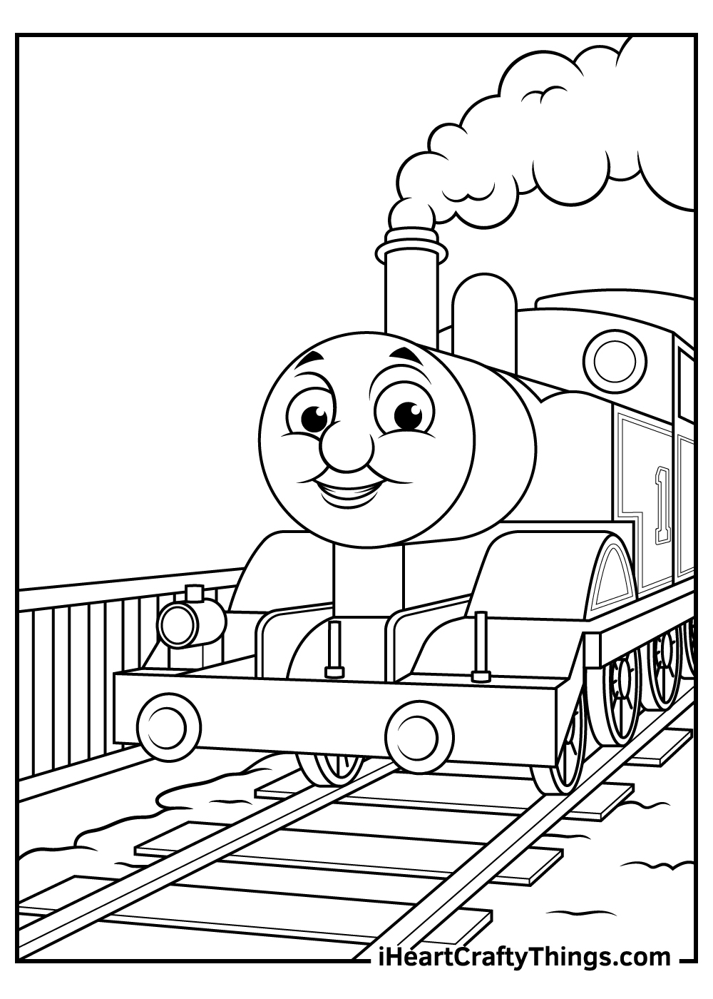 free thomas the train coloring pages