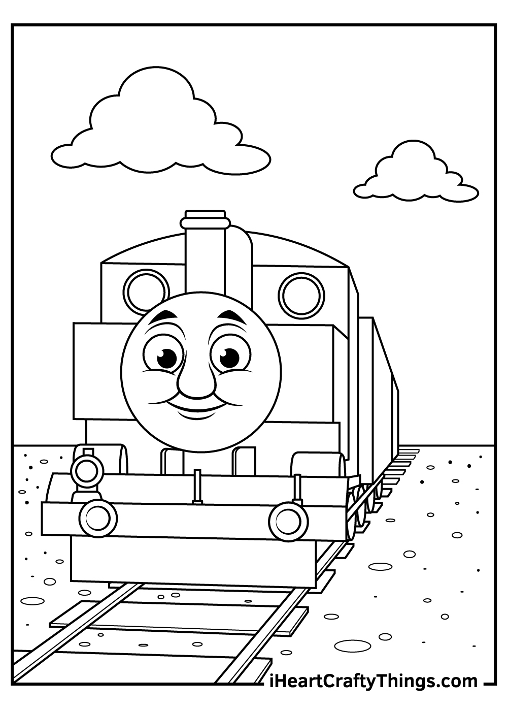 simple thomas the train coloring pages pdf