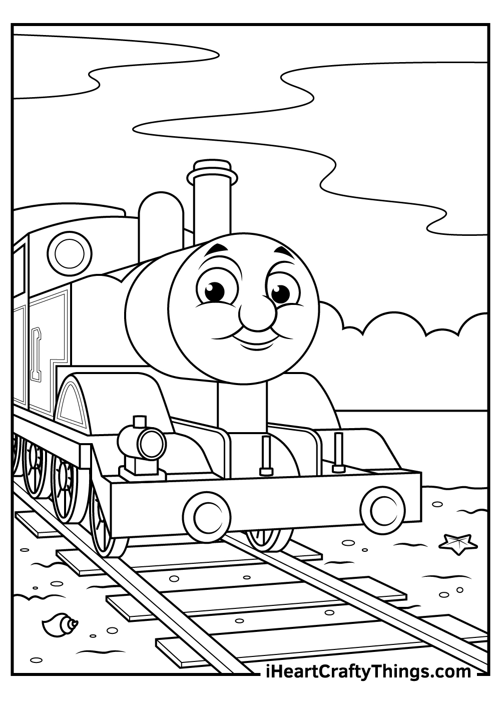 free printable thomas the train coloring pages pdf