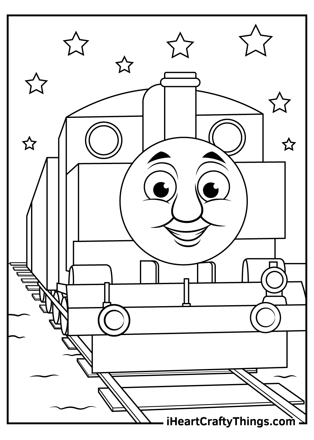 easy thomas the train coloring pages free