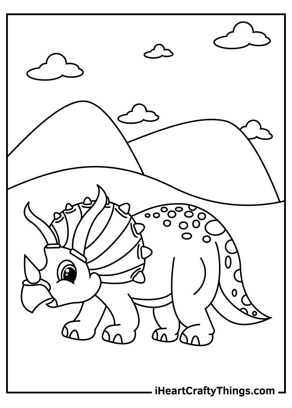 baby triceratops coloring pages