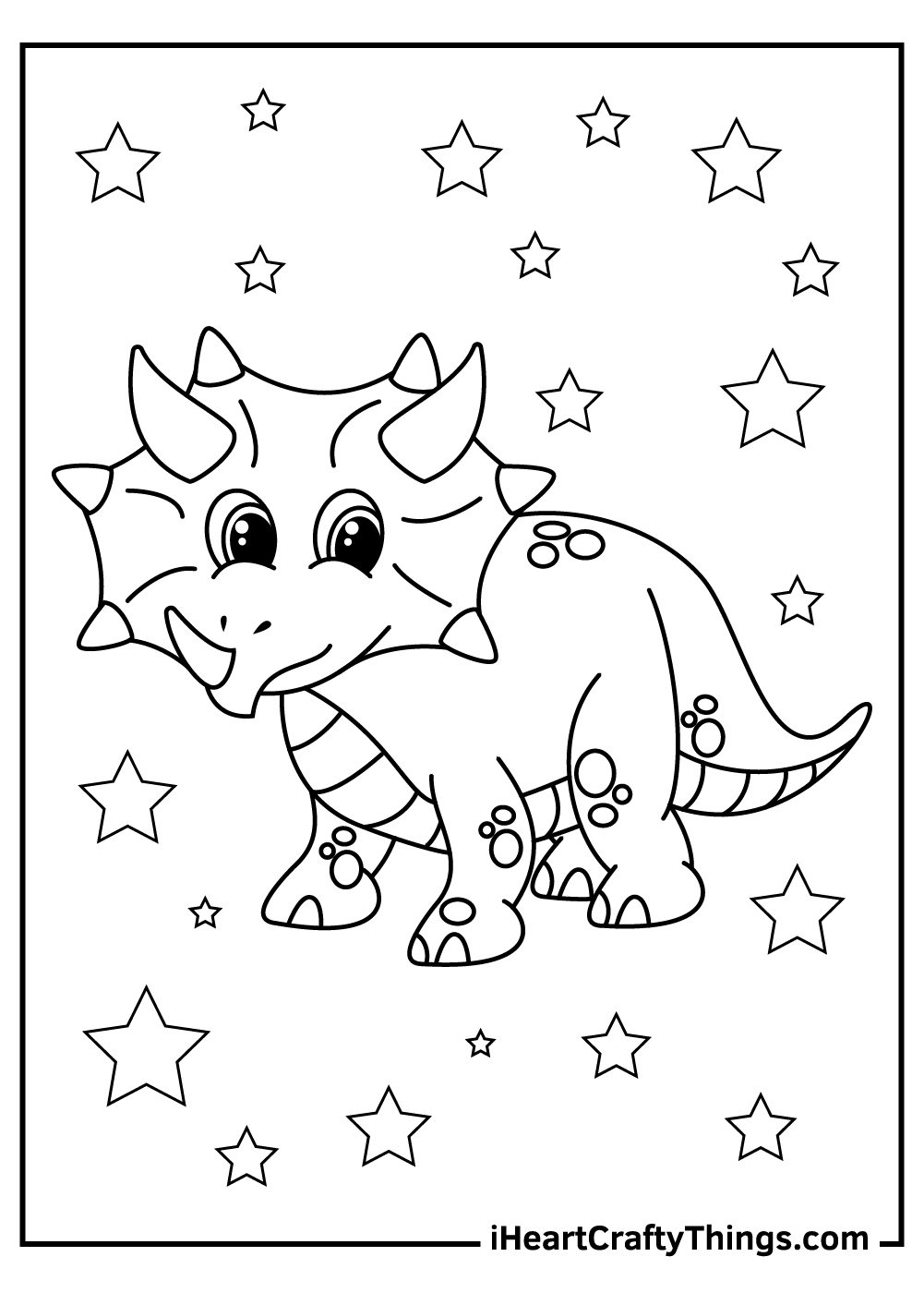 baby triceratops coloring pages free printable