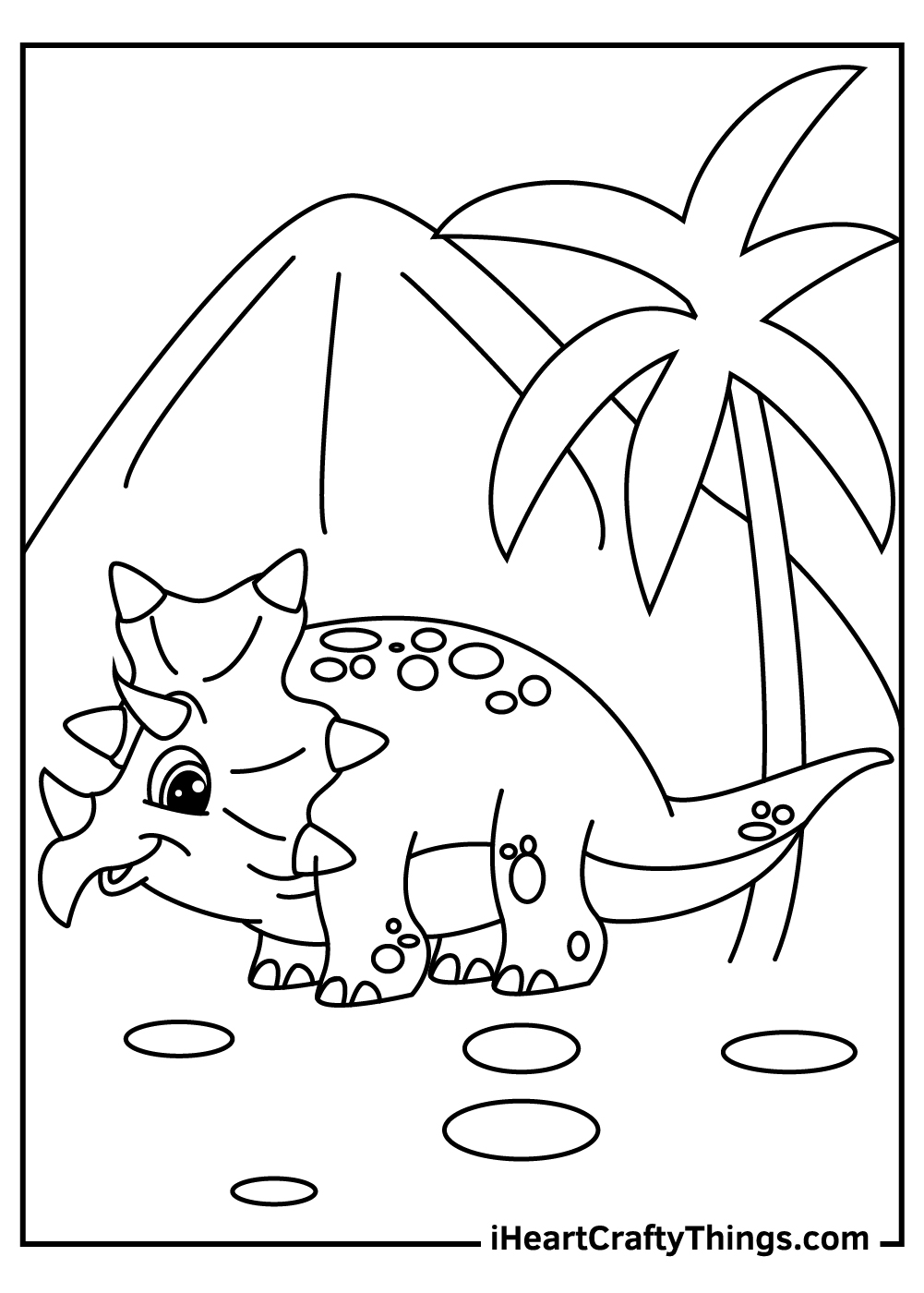 cute baby triceratops coloring pages free download