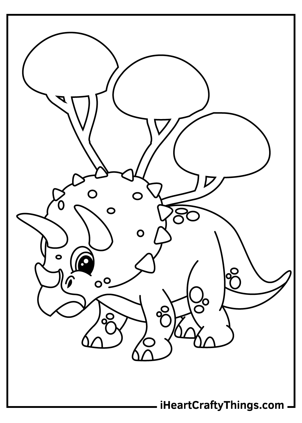 baby triceratops coloring pages free download
