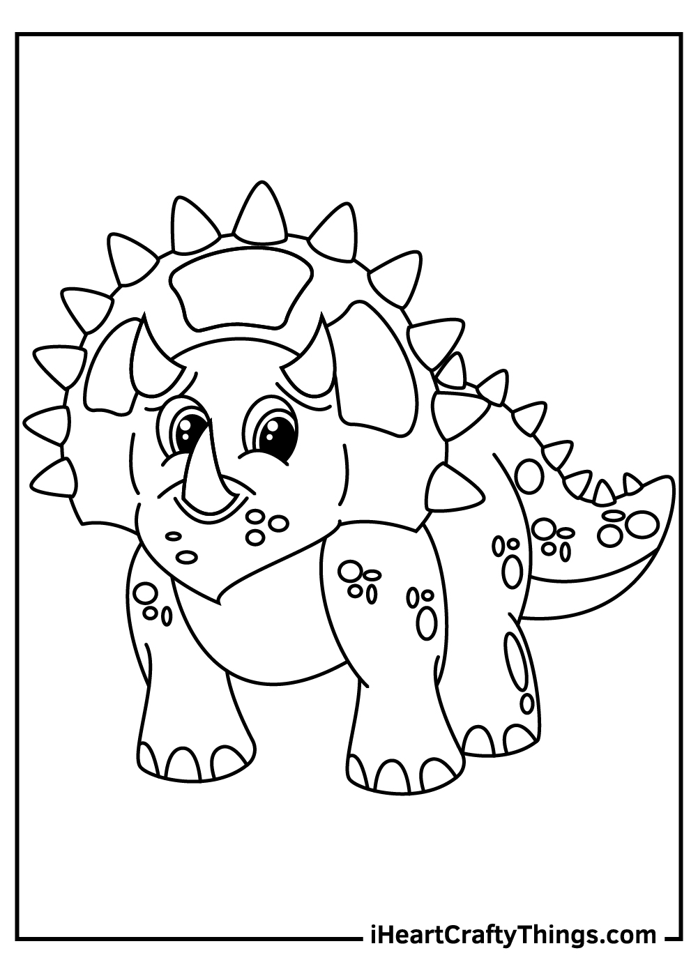 adorable baby triceratops coloring pages