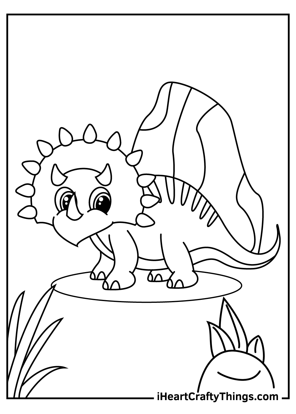 baby dinosaur triceratops coloring pages