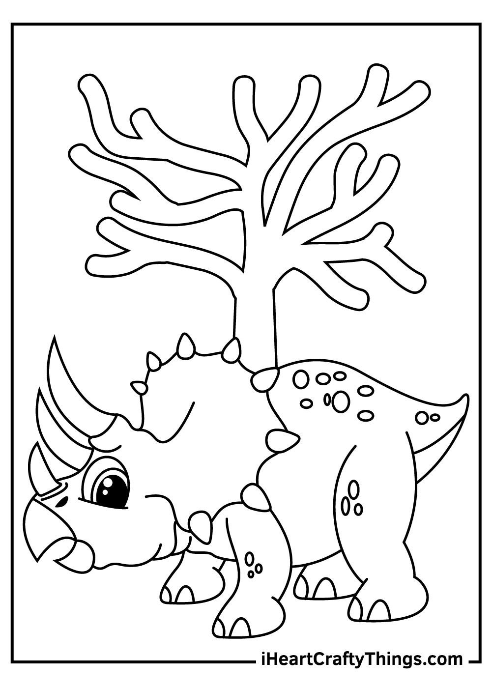 dinosaur triceratops coloring pages free download