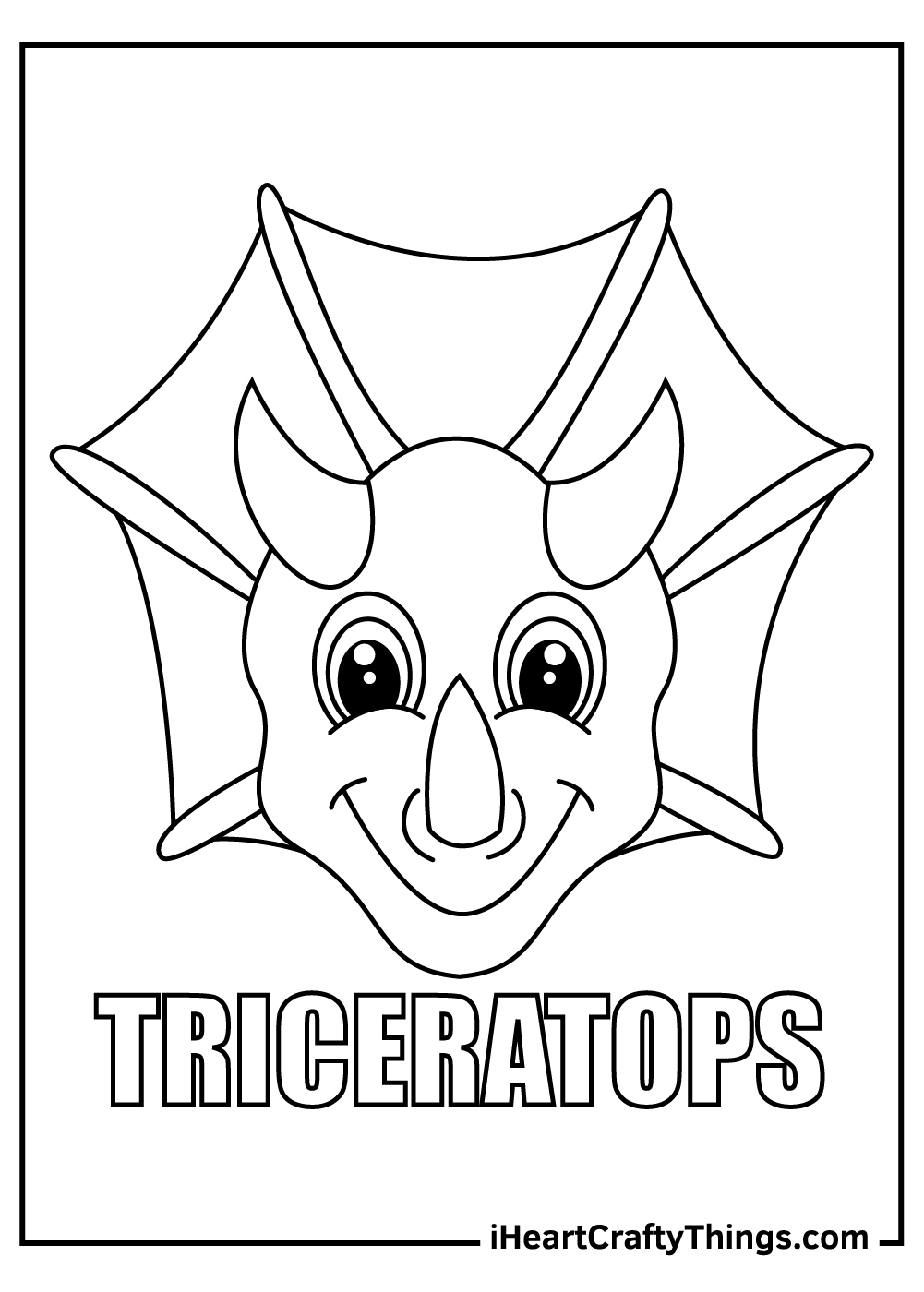 dinosaur triceratops coloring pages for preschoolers