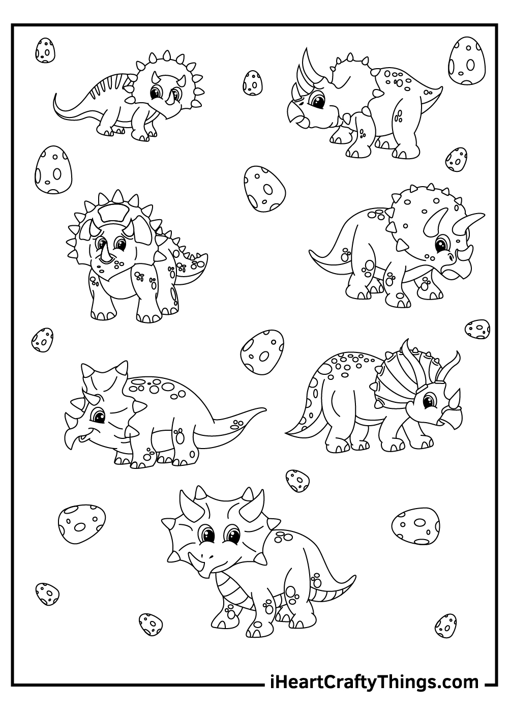 cute triceratops coloring pages free download