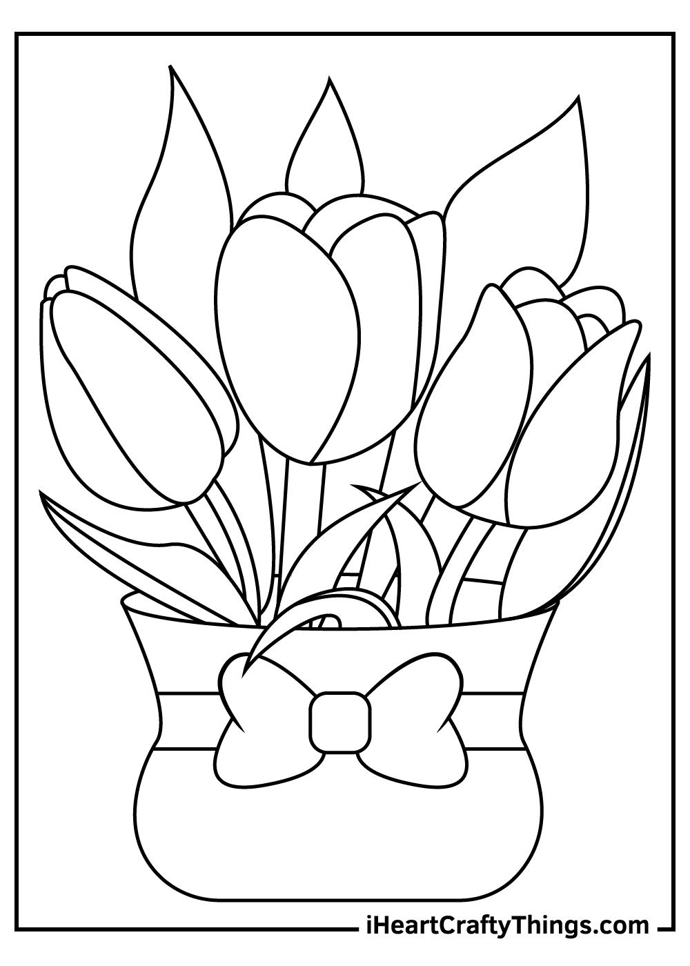 cute tulip coloring pages printable