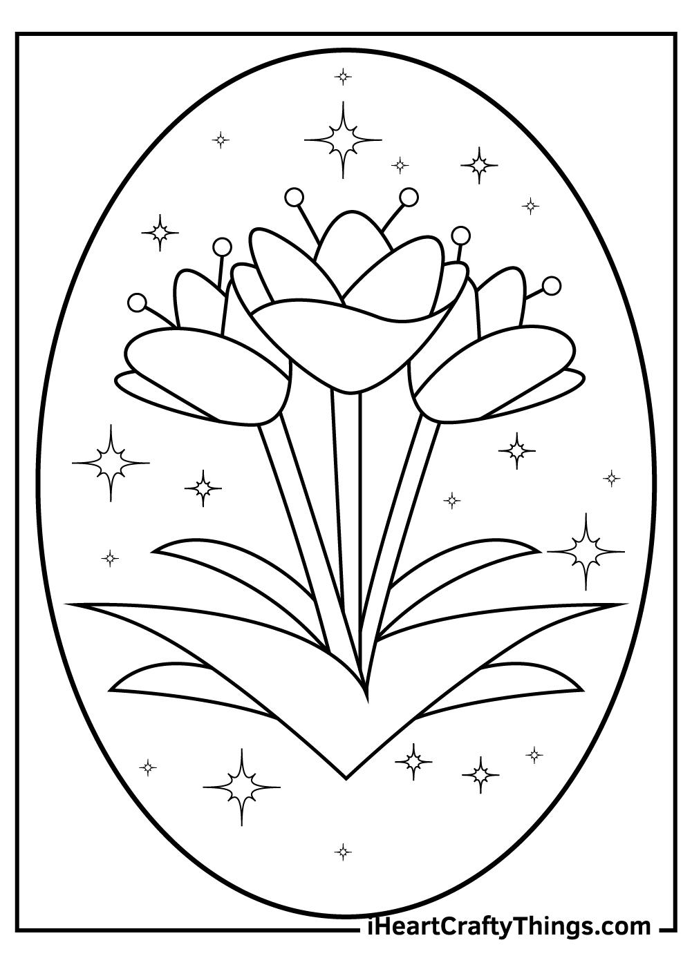 cartoon tulip coloring pages printable pdf