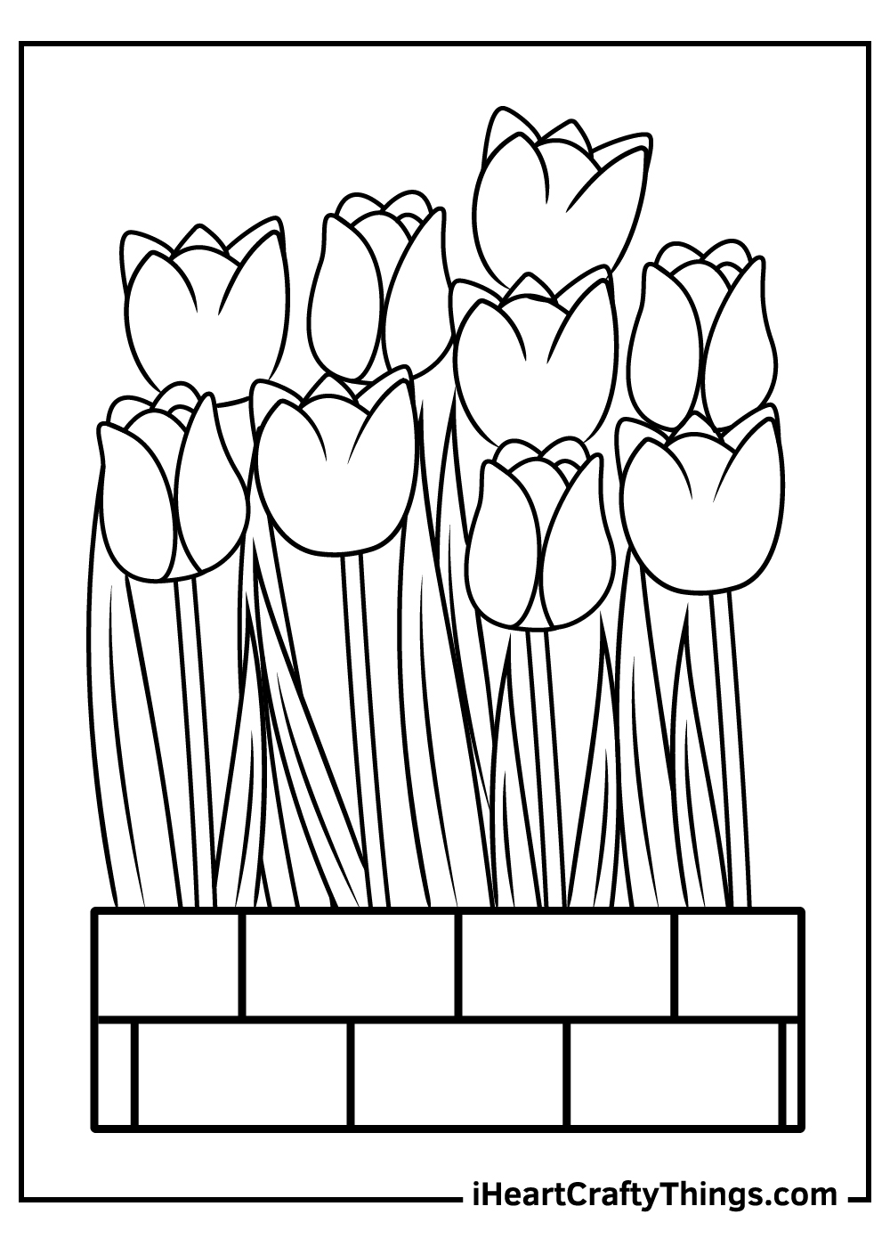 tulips coloring pages printable