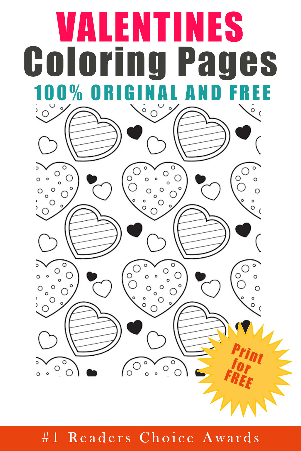 original and free valentine's coloring pages