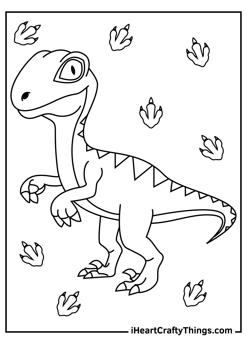 velociraptor coloring pages for kids free download