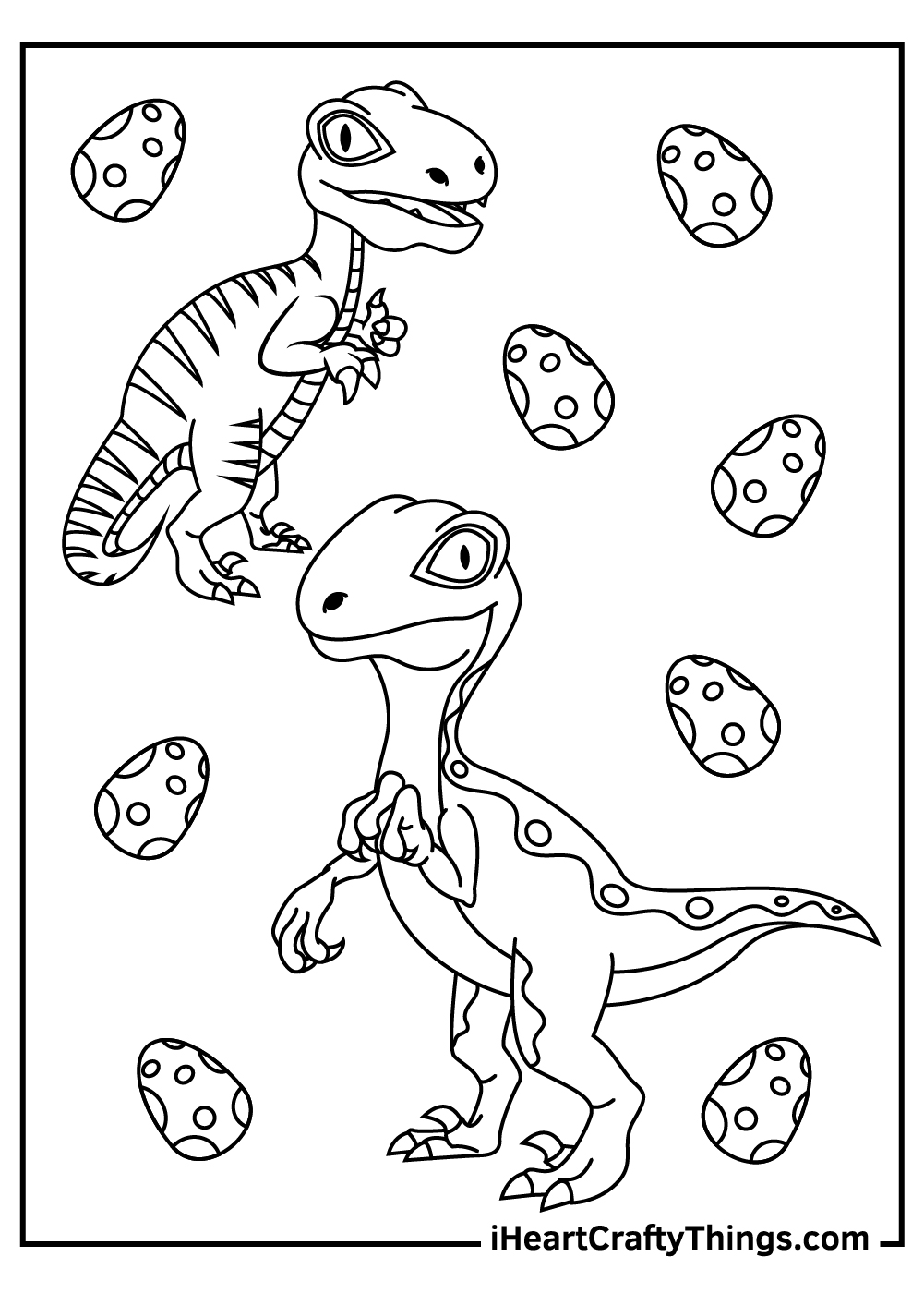 free printable velociraptor coloring pages