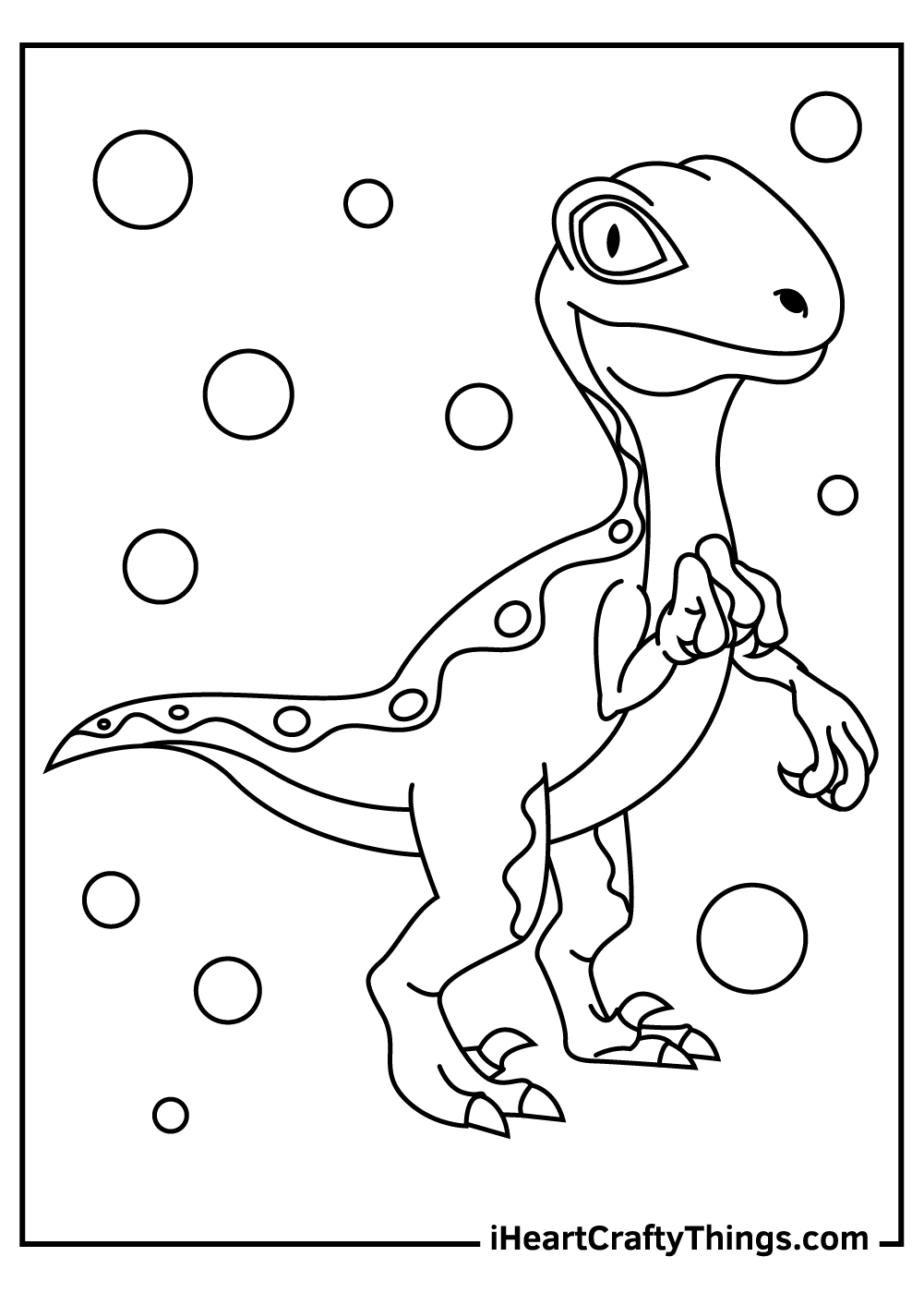 baby dinosaur velociraptor coloring pages free download