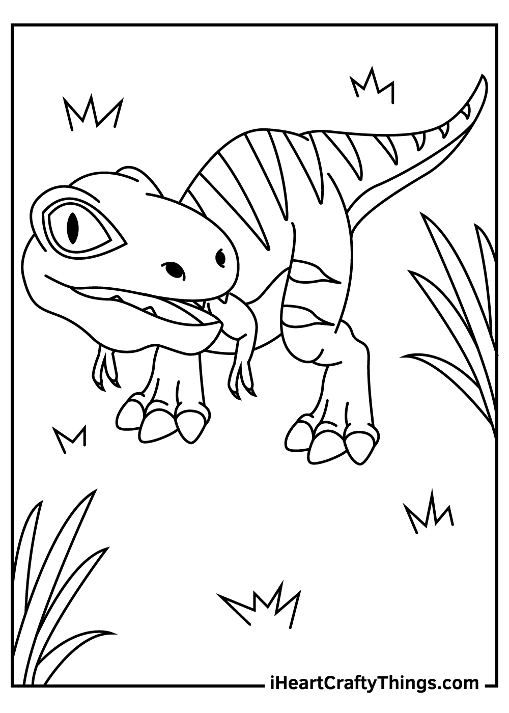 jurassic park velociraptor coloring pages