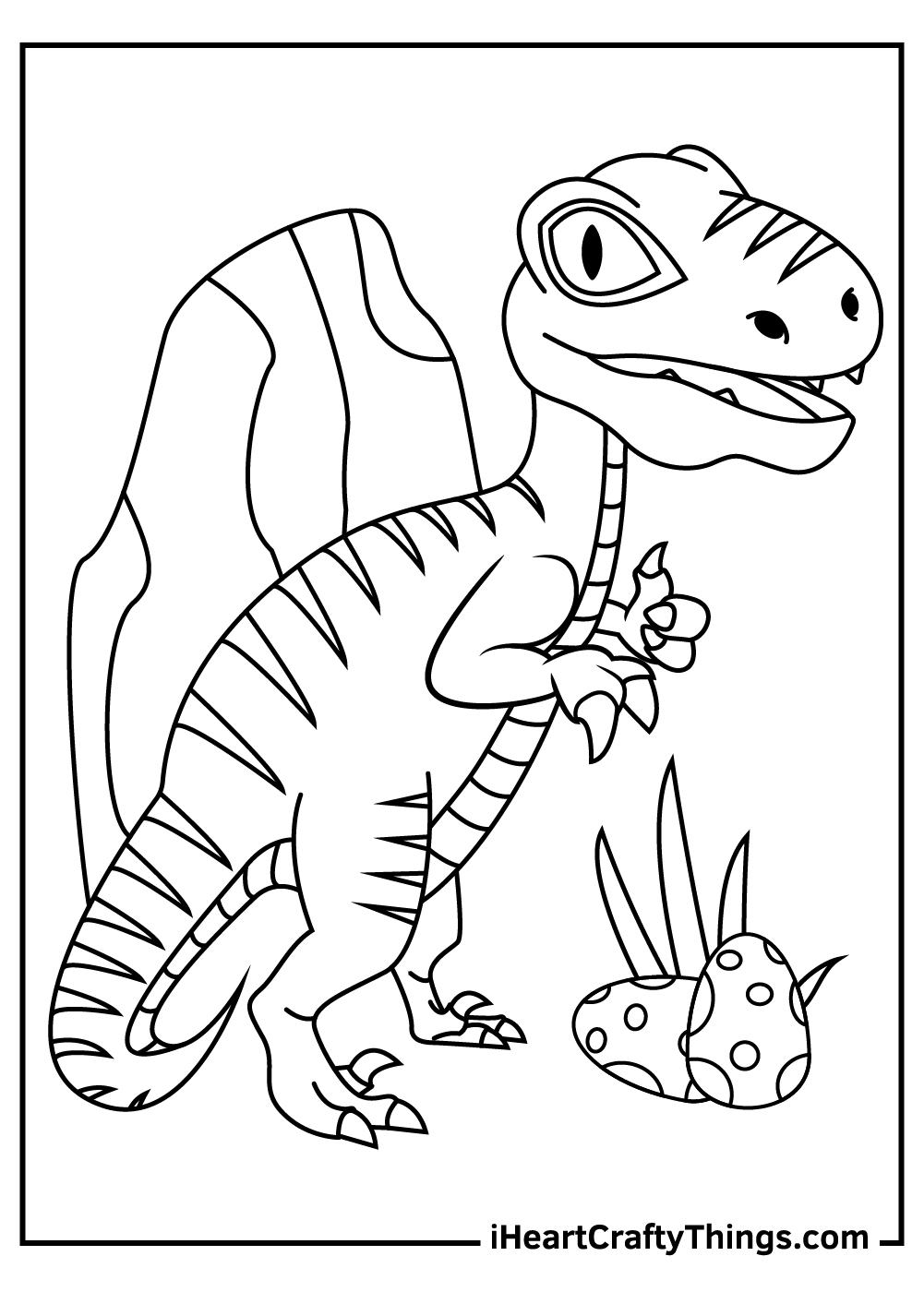 realistic baby dinosaur velociraptor coloring pages