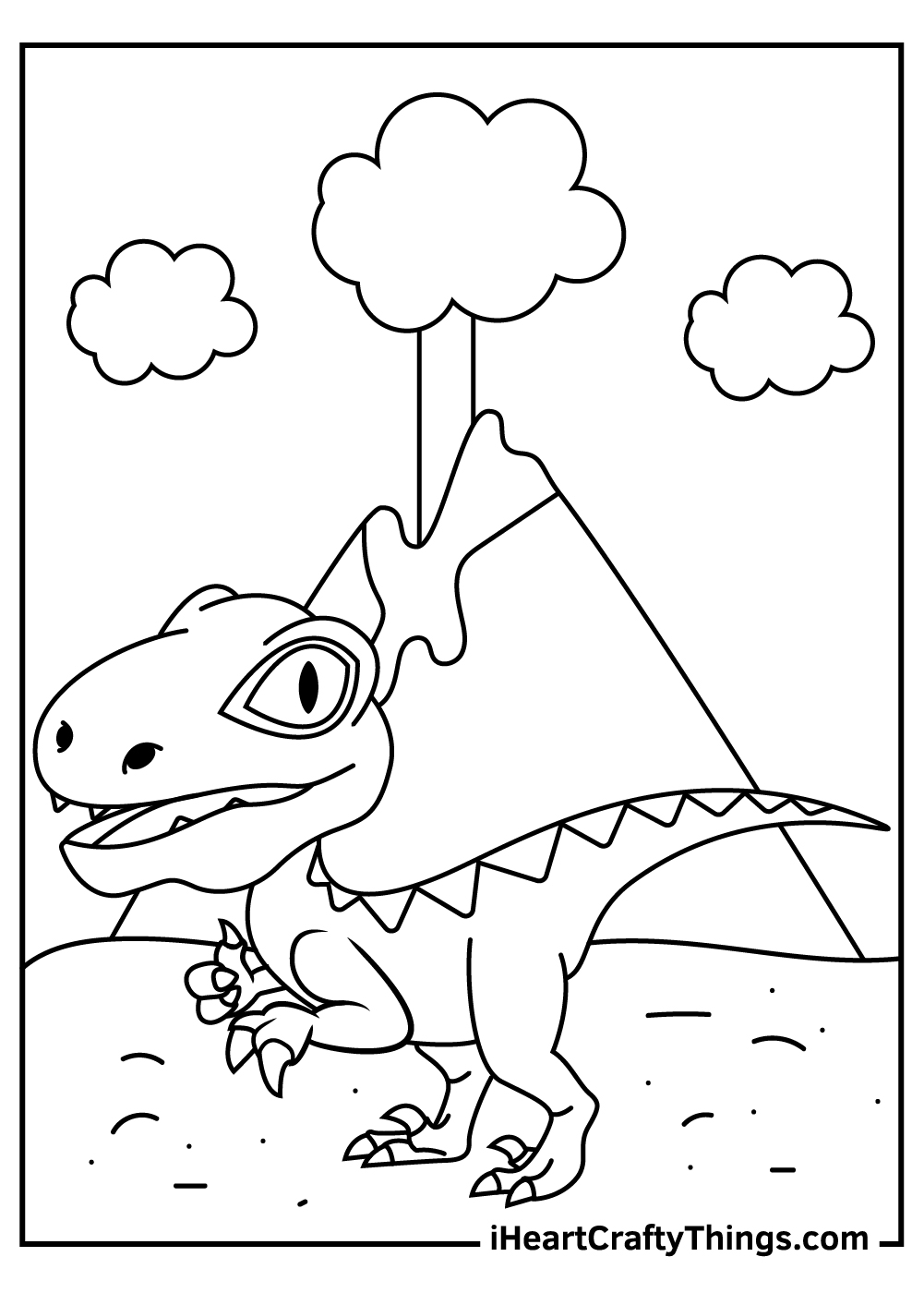 simple jurassic park velociraptor coloring pages