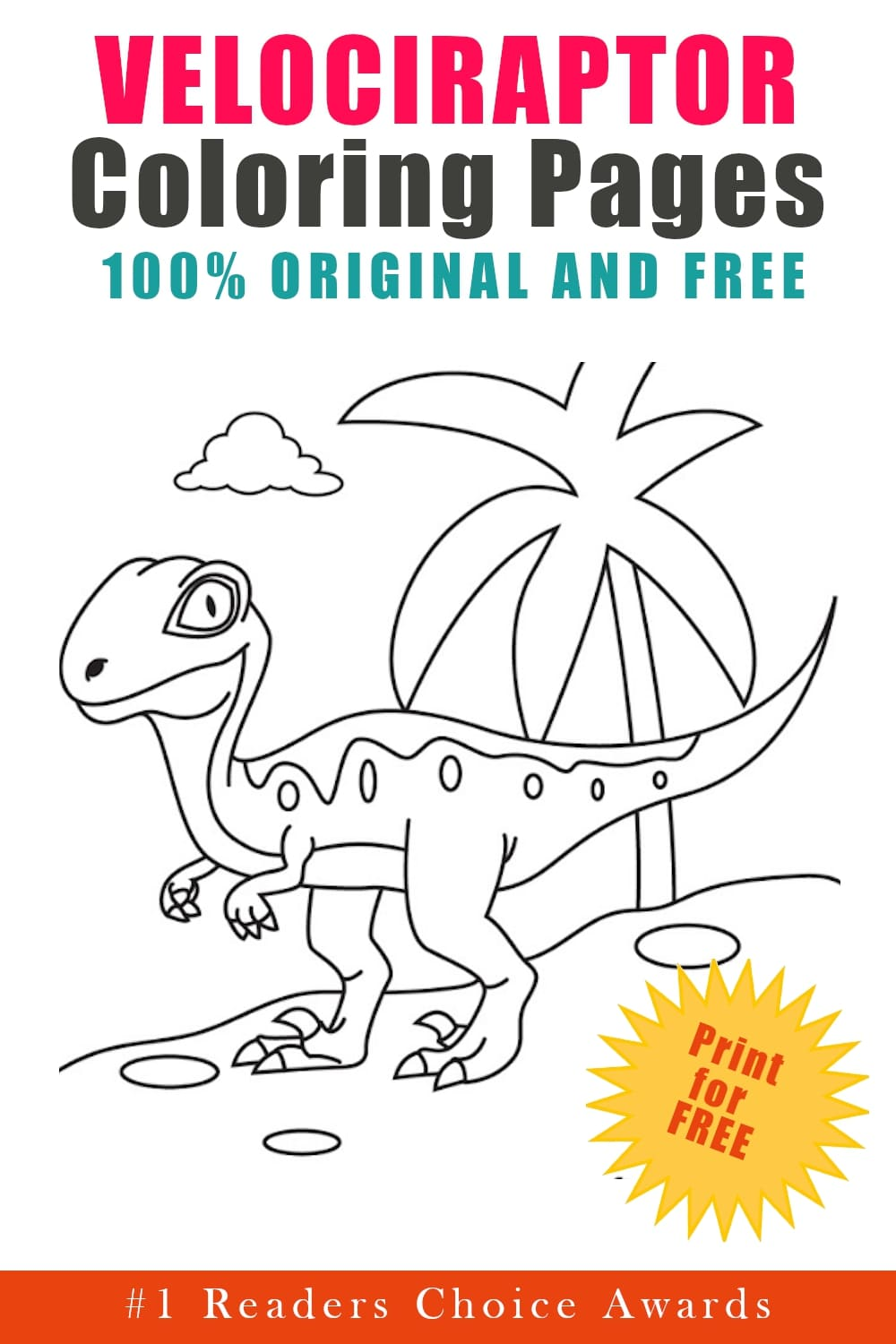 original and free velociraptor coloring pages