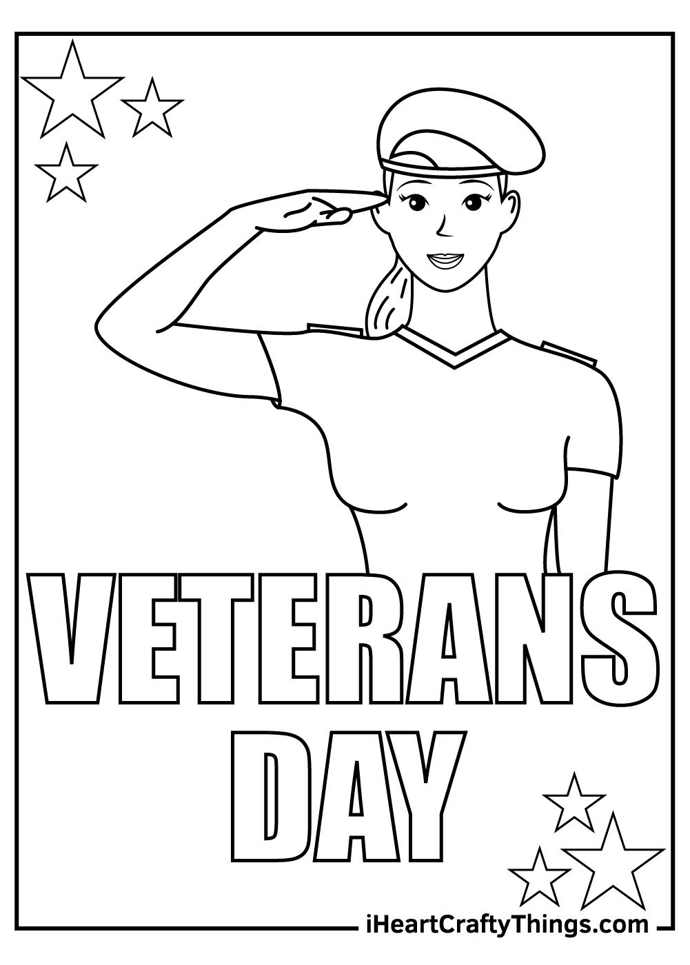 Veteran's Day Coloring Pages female veteran
