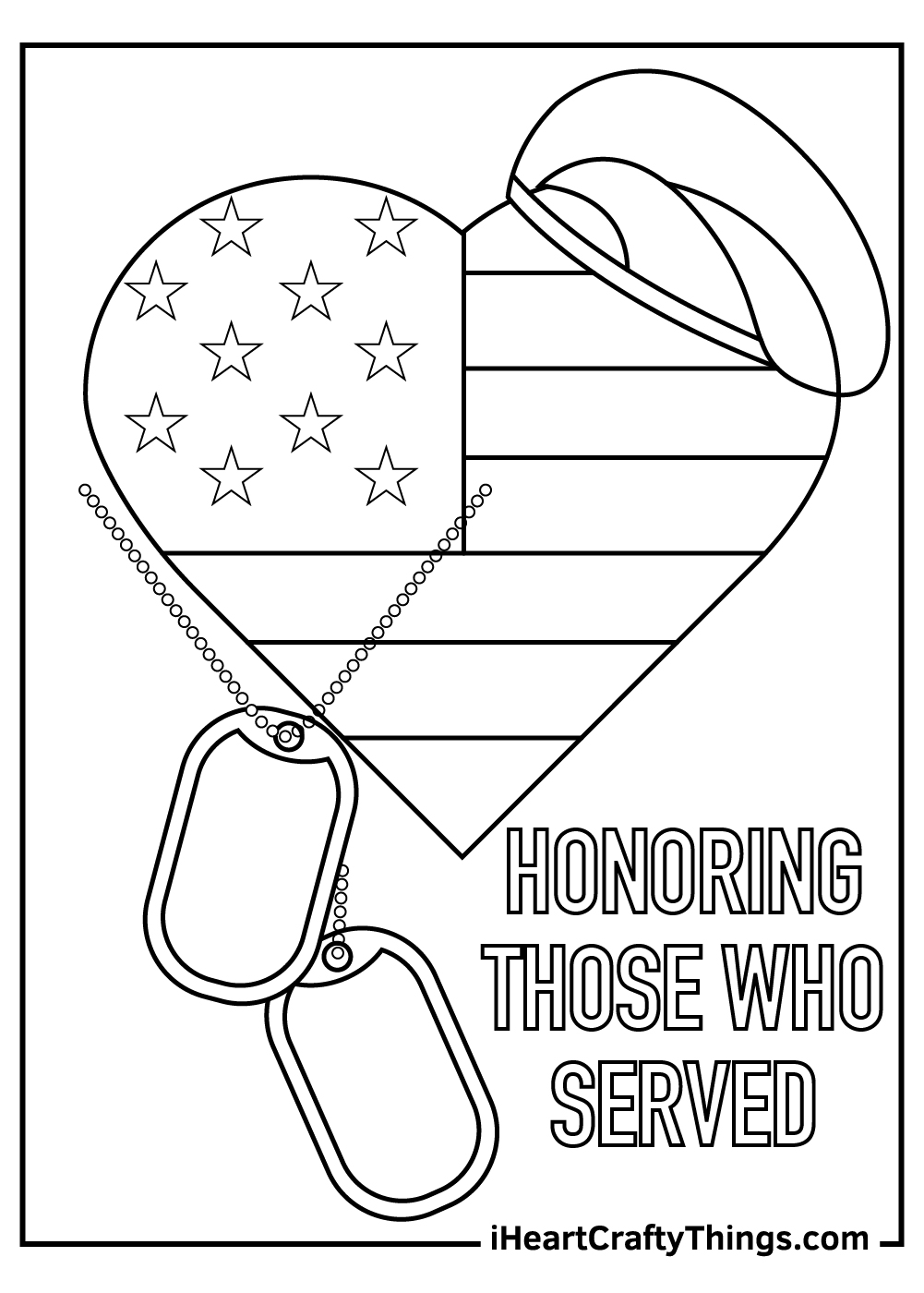 Honoring Those Who Served Veteran's Day Coloring Pages