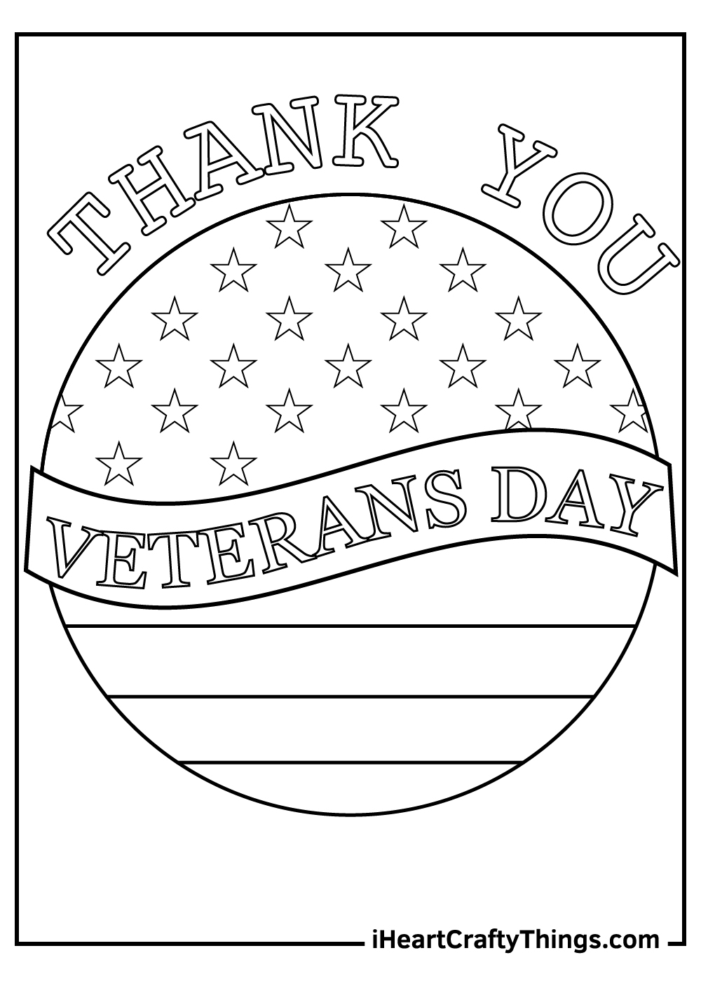 Thank You Veteran's Day Coloring Pages