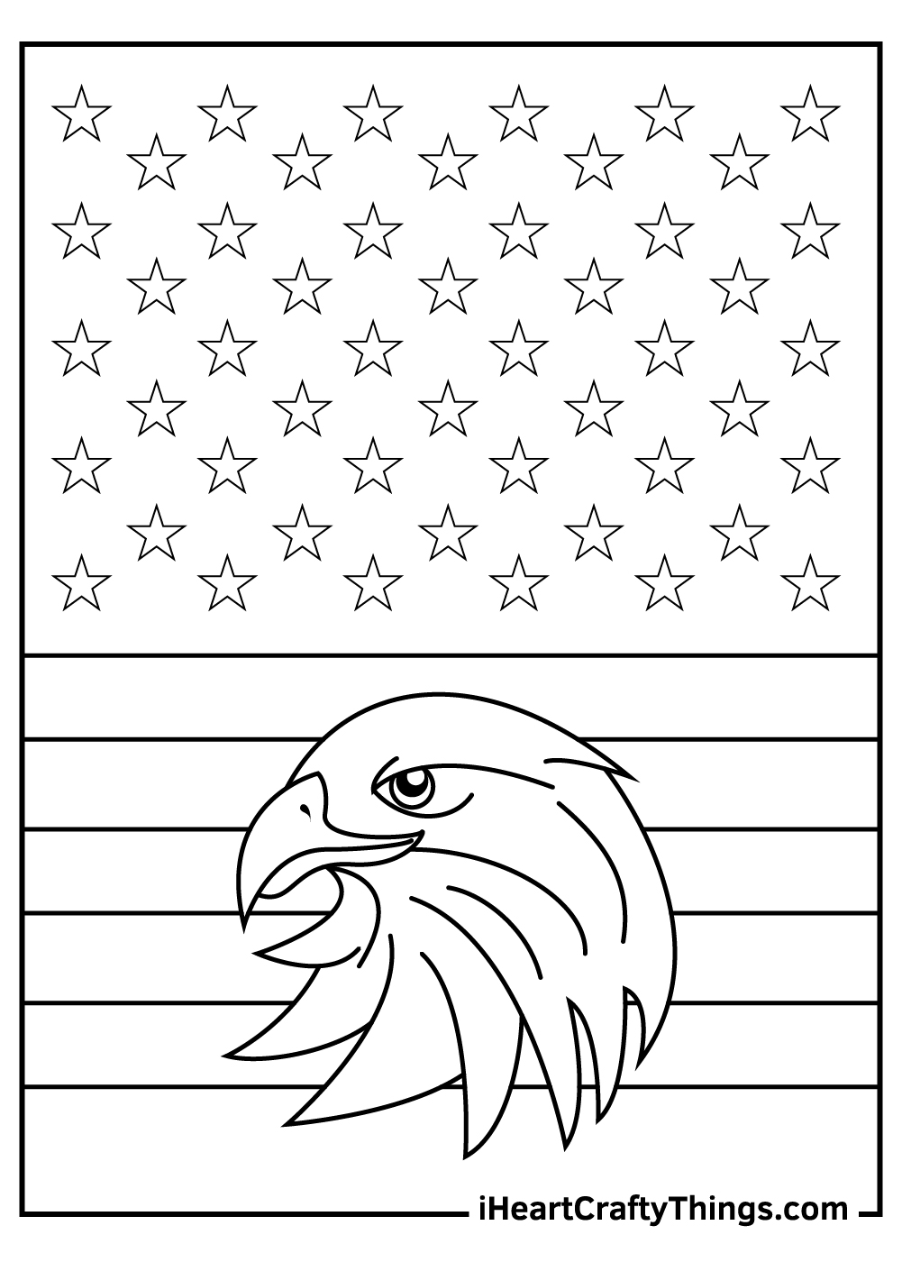 Eagle Veteran's Day Coloring Pages