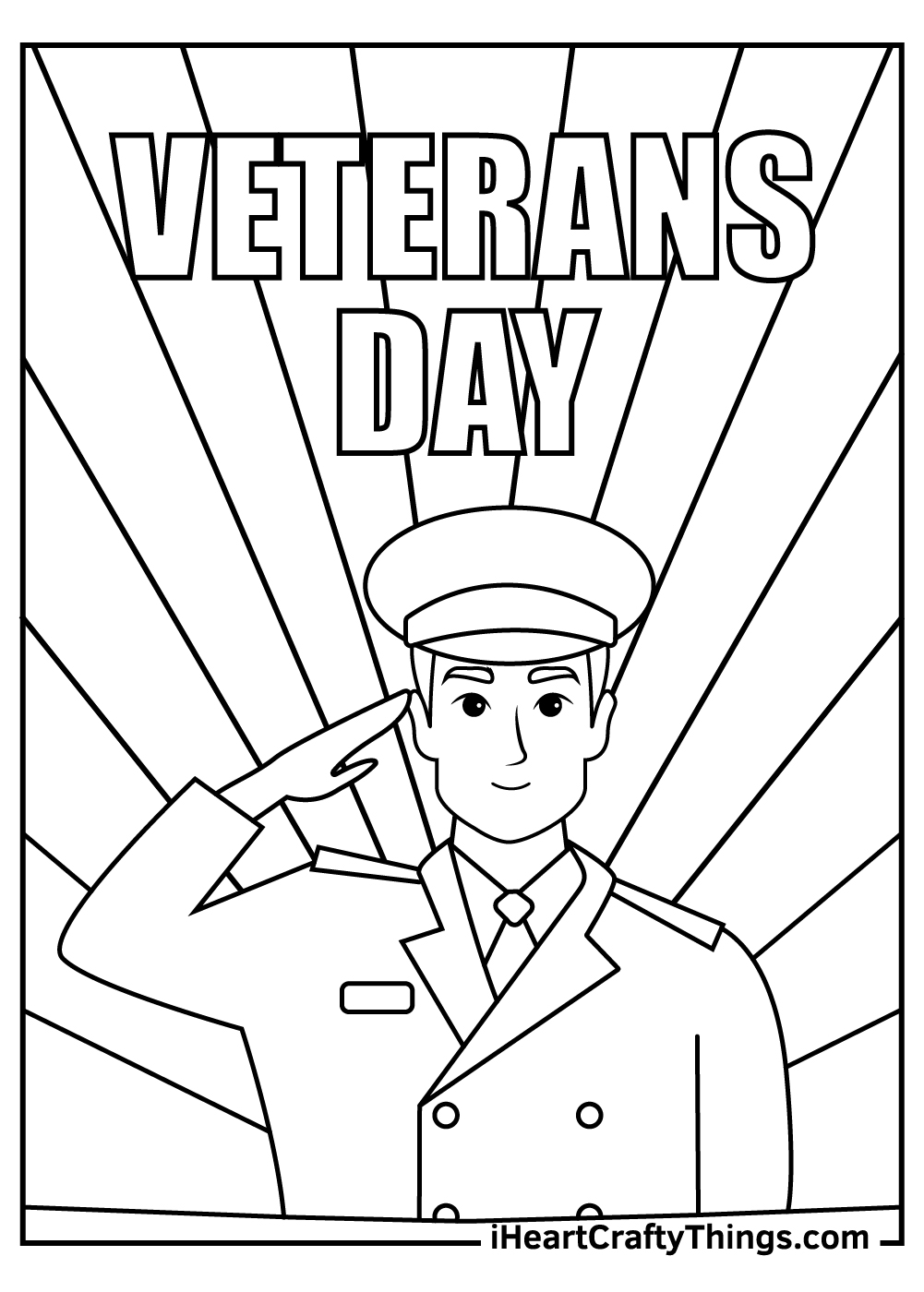 Veteran's Day Coloring Pages free printable