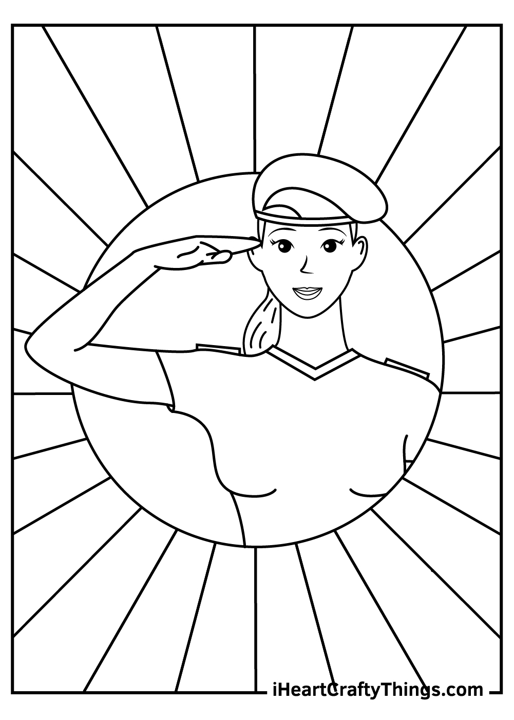 Woman Veteran's Day Coloring Pages