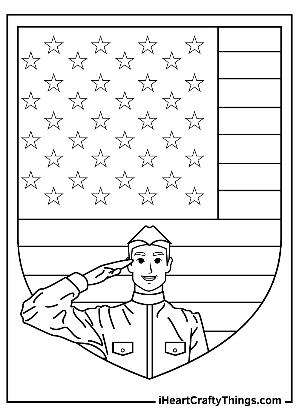 Celebrating Veteran's Day Coloring Pages for Adults