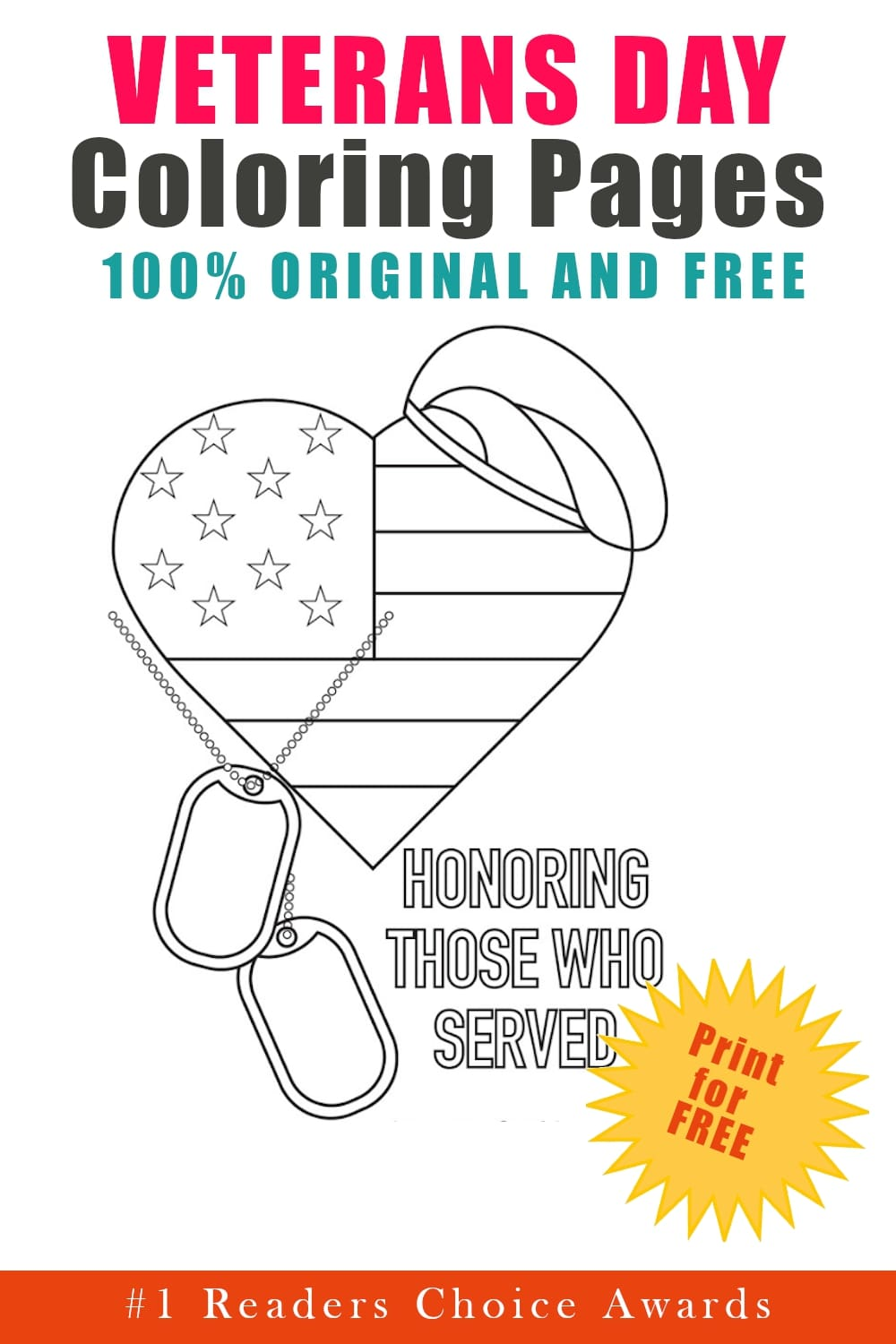 original and free veteran's day coloring pages