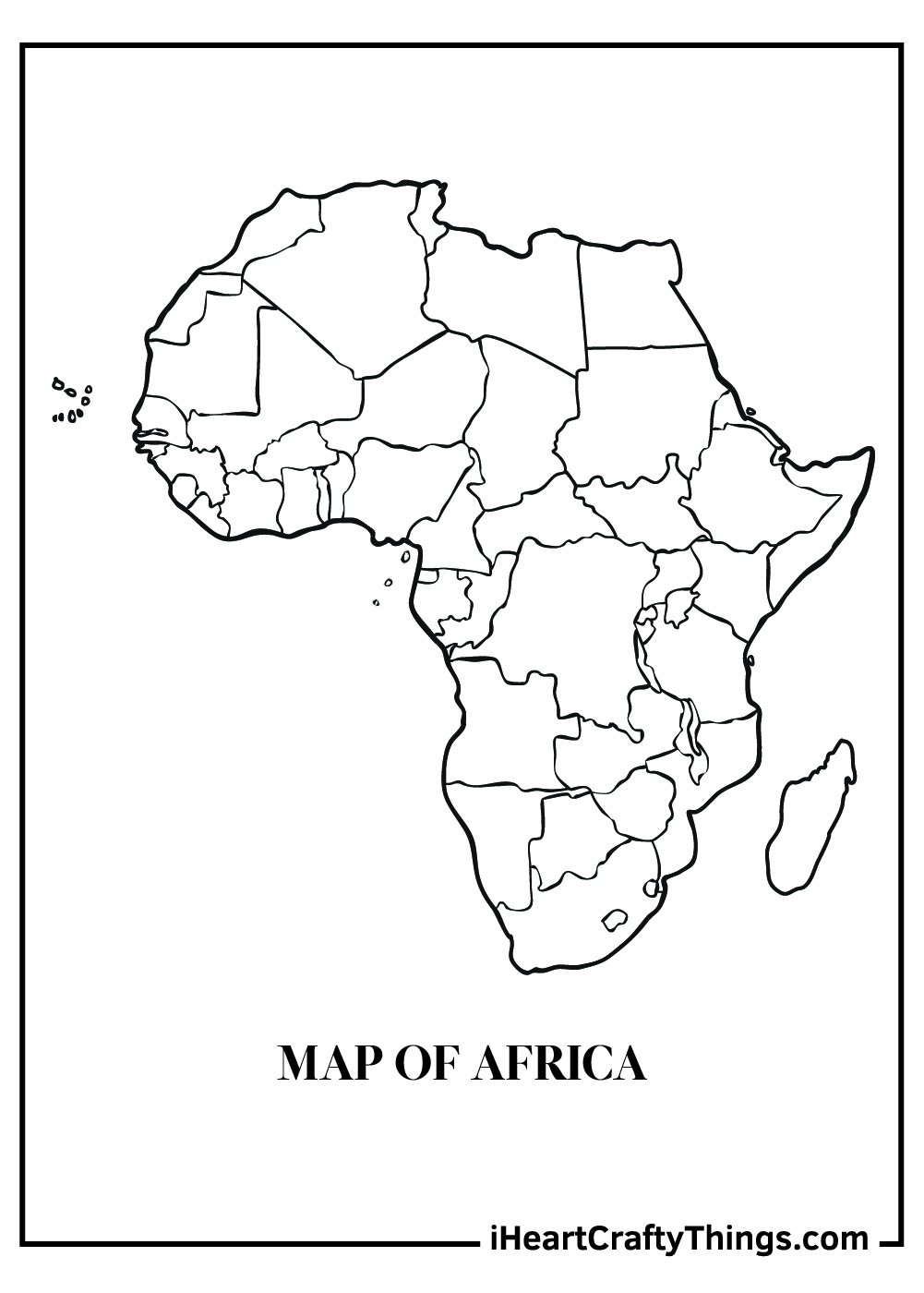 map of africa coloring pages free printable