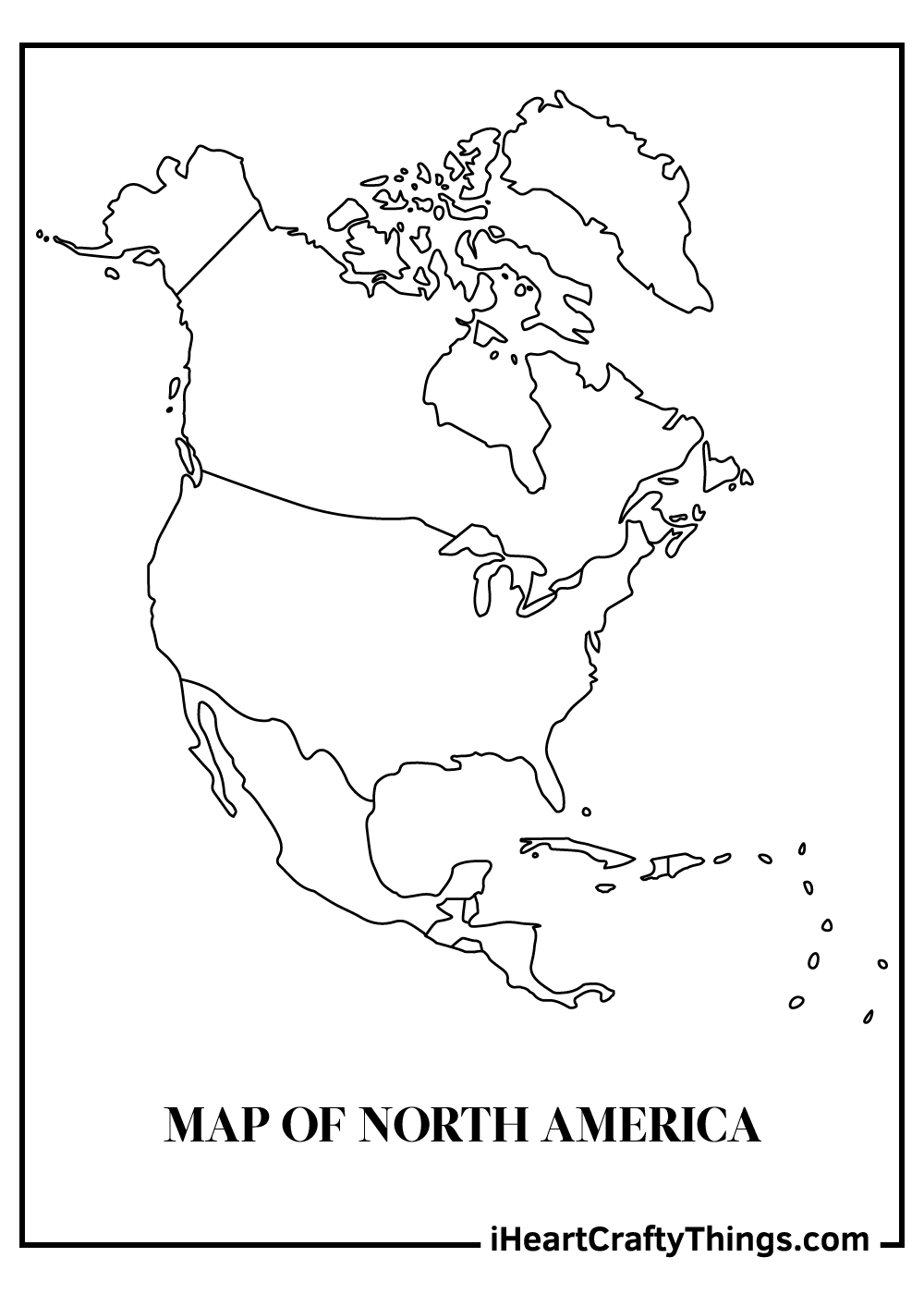 map of north america coloring pages free printable