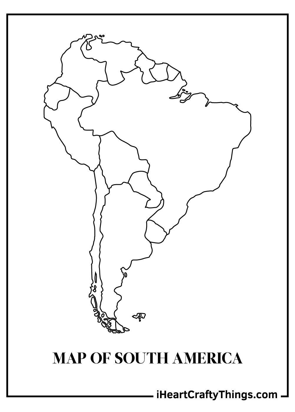 map of south america coloring pages free printable