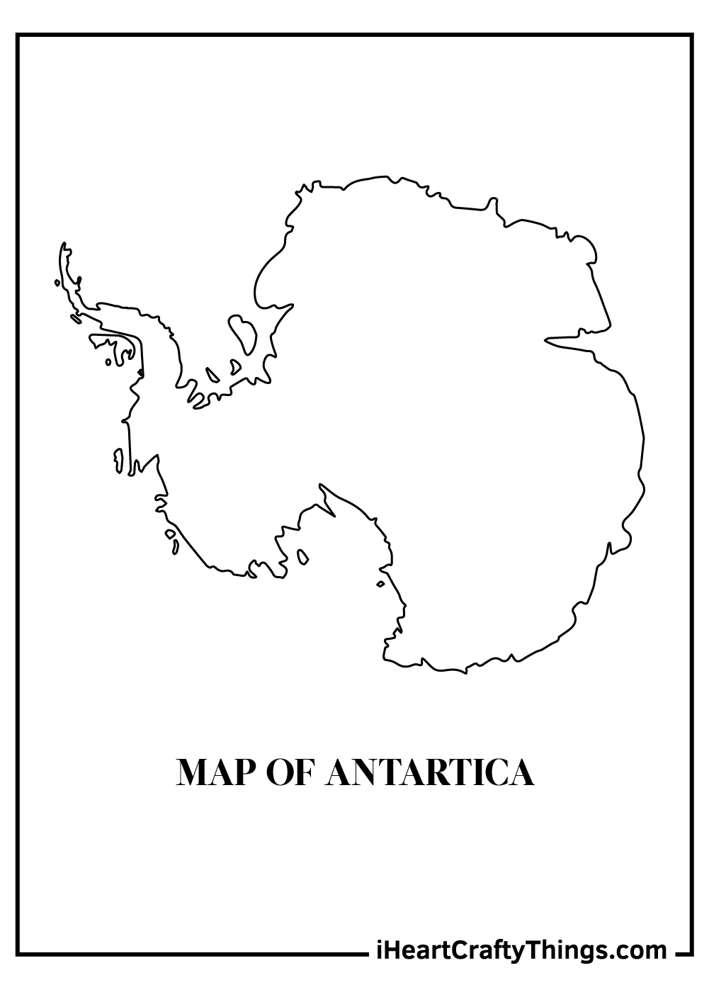 antartica map coloring pages free printable