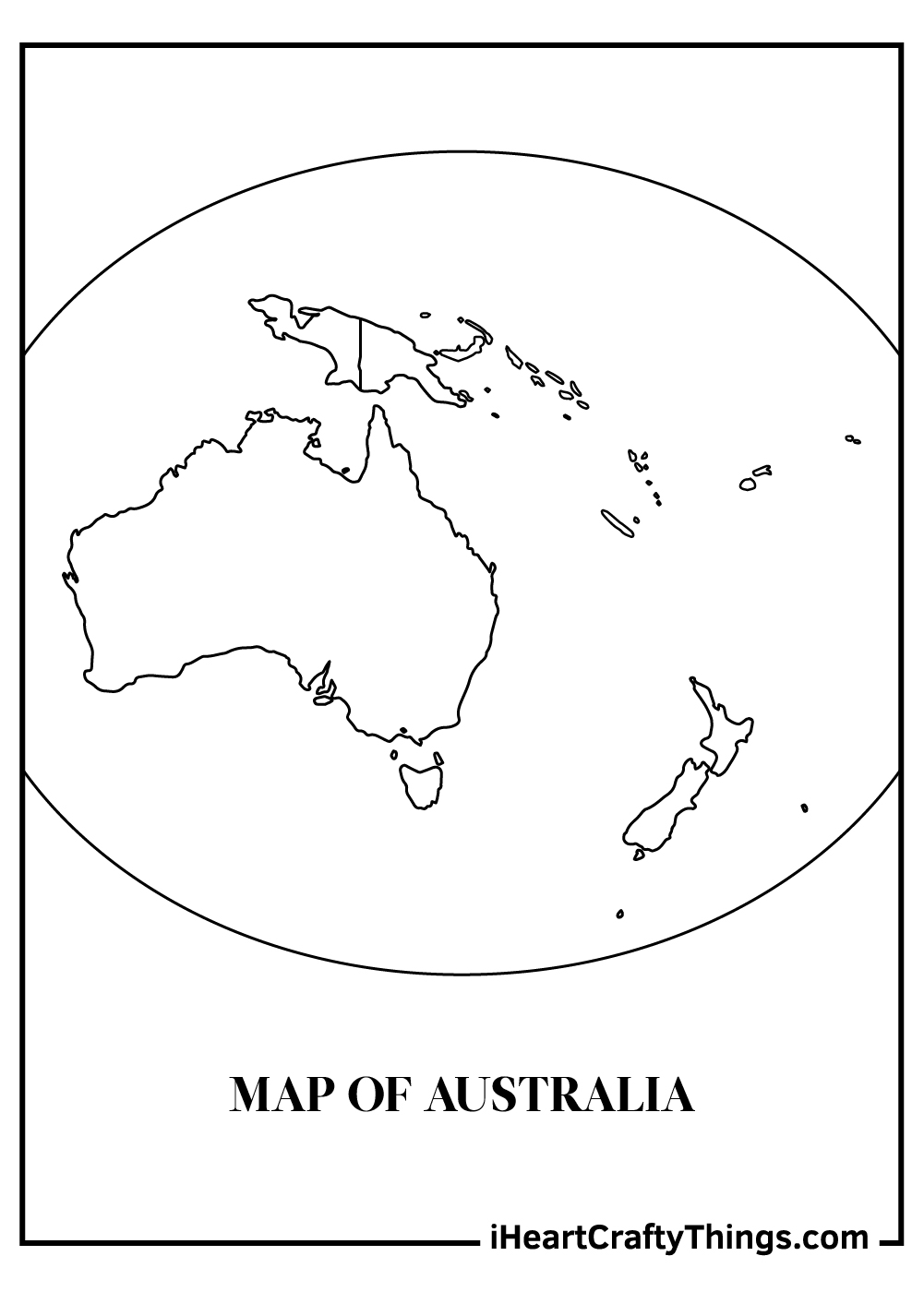 australia map coloring pages free printable