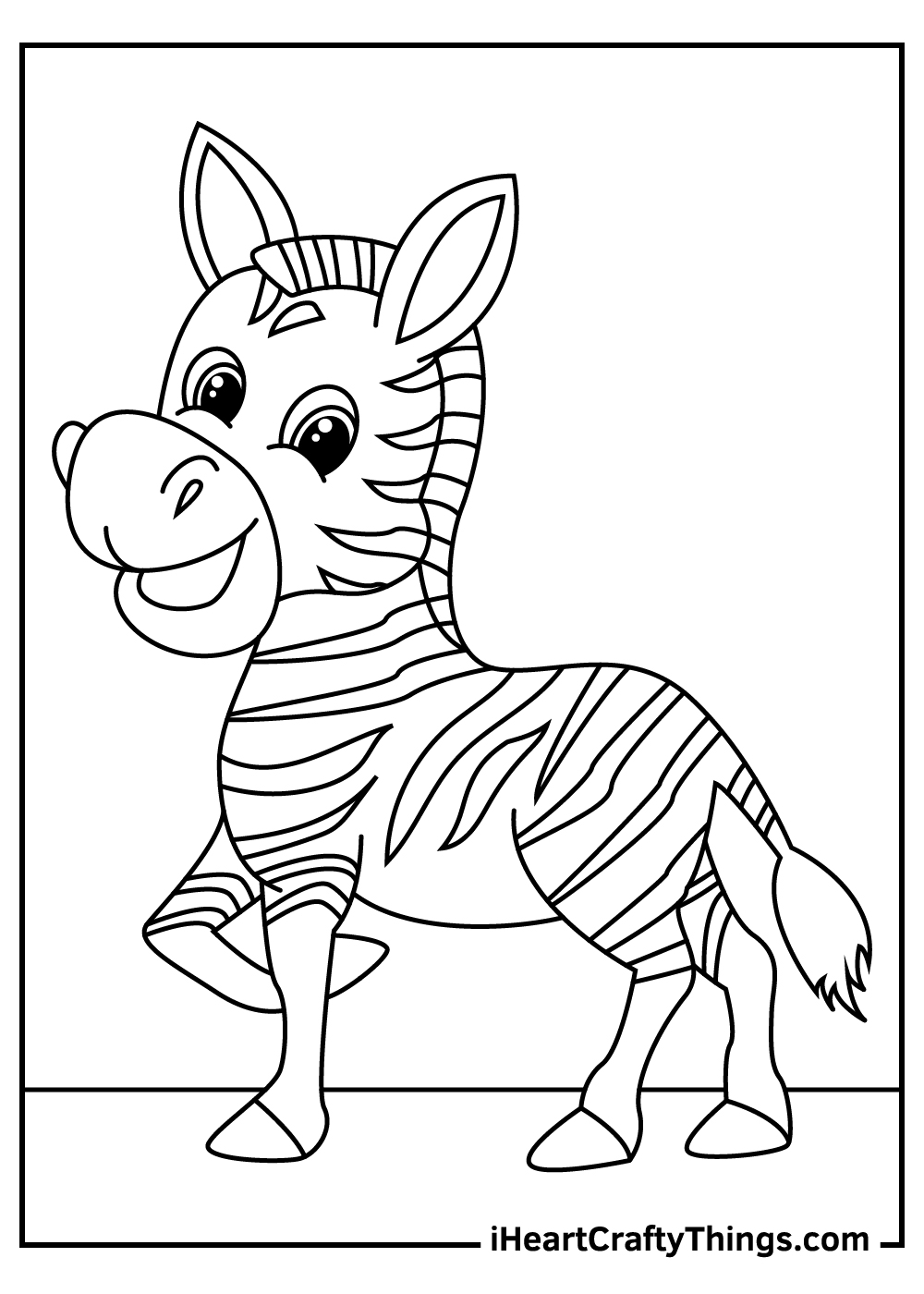baby zebra coloring pages free printable