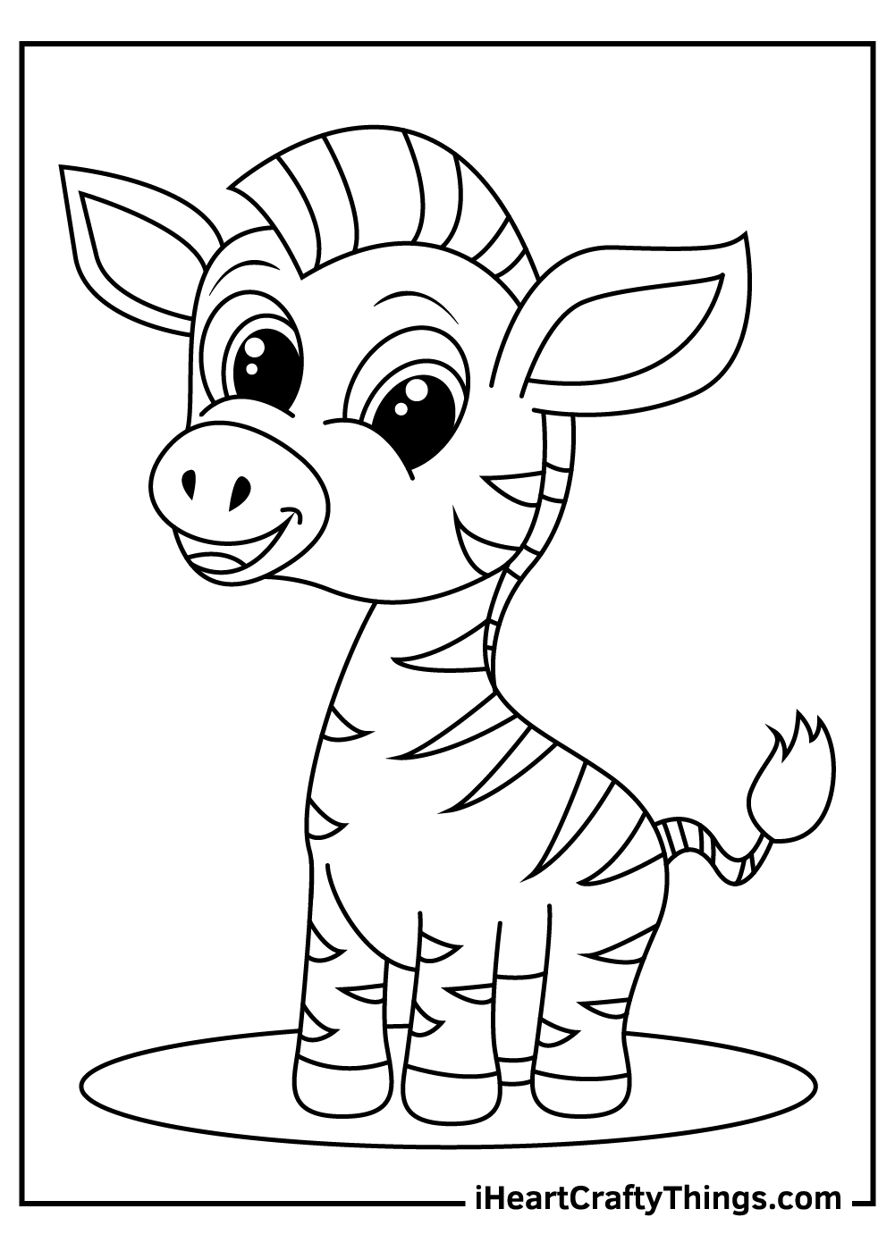 white zebra coloring pages free printable