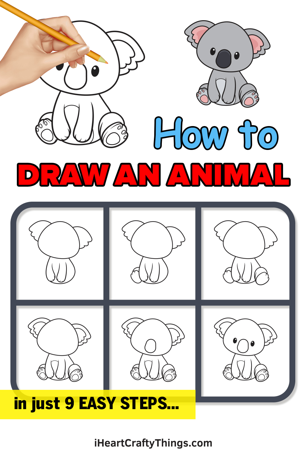 how to draw an animal in 9 easy steps